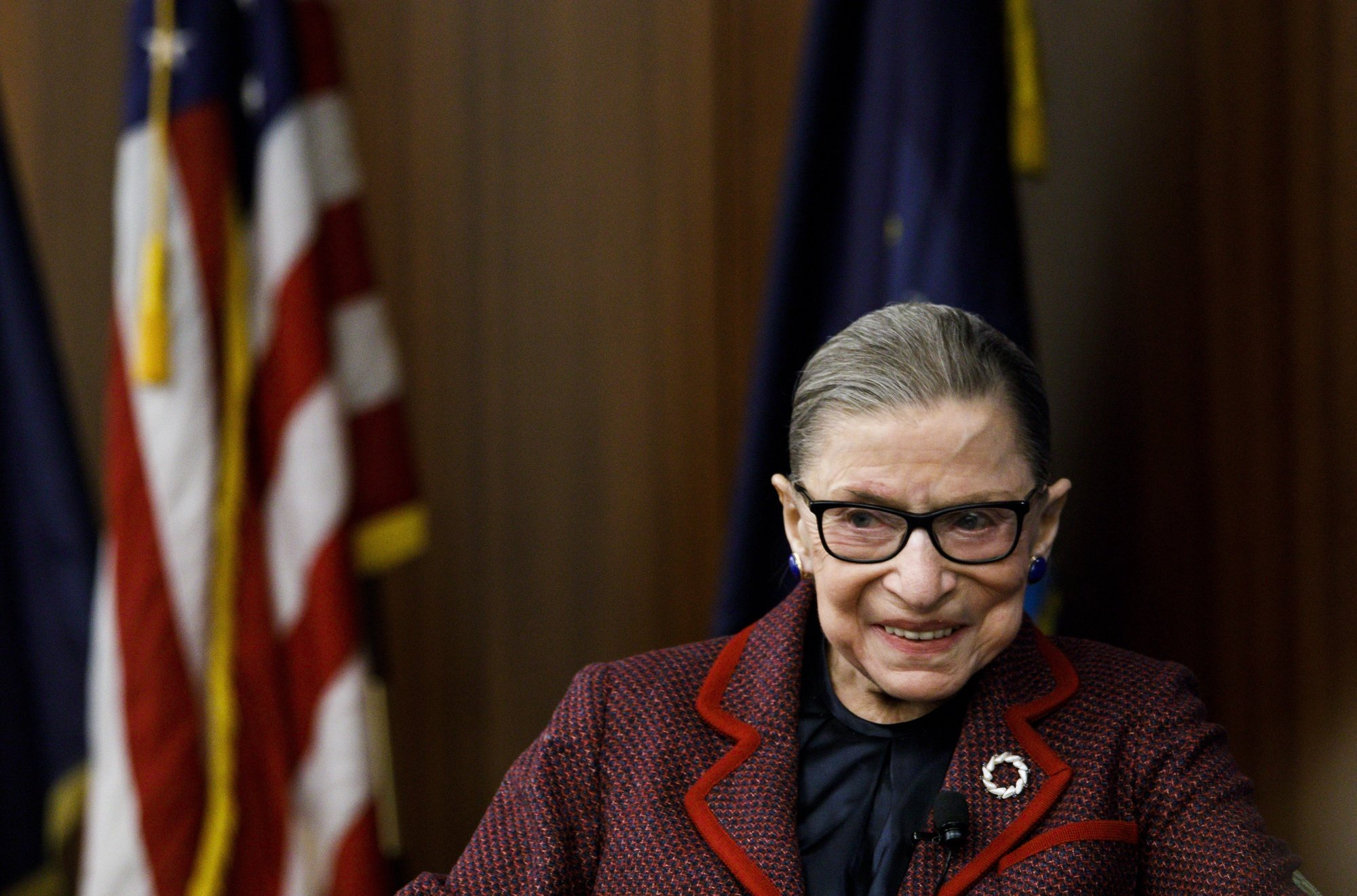 epa08679843 (FILE) - United States Supreme Court Justice Ruth Bader Ginsburg attends an event at New York Law School in New York, New York, USA, 06 February 2018. According to reports on 18 September 2020, United States Supreme Court Justice Ruth Bader Ginsburg has died at the age of 87. Justice Ginsburg, also known as RBG, took office on 10 August 1993 after an appointment by then US President Bill Clinton. She was the oldest of the nine serving supreme court judges at the time of her death.  EPA/JUSTIN LANE *** Local Caption *** 54091573