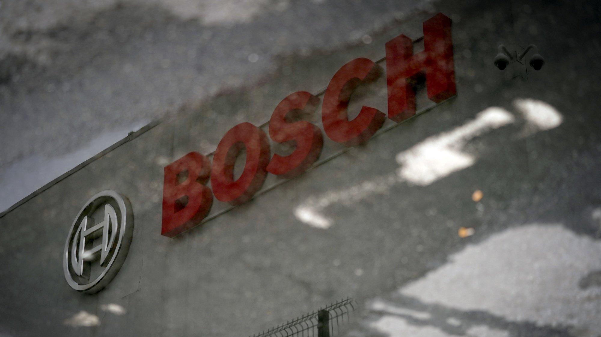 Simbolo da fábrica da Bosch, em Braga 1 de Março de 2021. HUGO DELGADO/LUSA