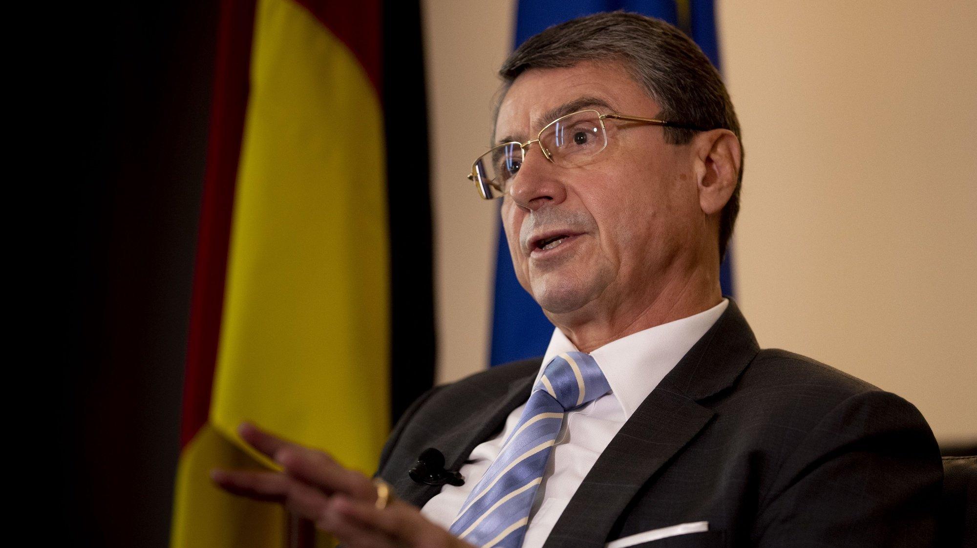 O embaixador da Alemanha em Portugal, Martin Ney, fala em entrevista à agência Lusa em Lisboa, 23 de setembro de 2021. (ACOMPANHA TEXTO DA LUSA DO DIA 24 DE SETEMBRO DE 2021). TIAGO PETINGA/LUSA