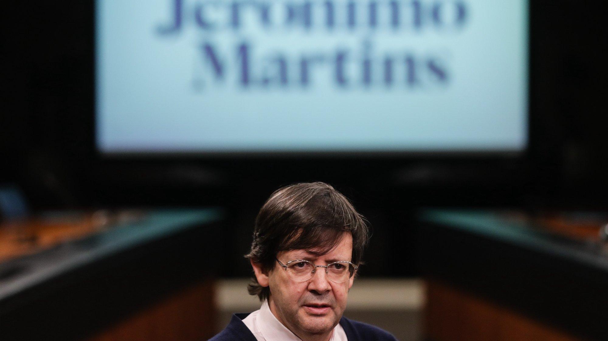 O presidente do conselho de administração da Jerónimo Martins, Pedro Soares dos Santos, fala em entrevista à Agência Lusa na sede da empresa em Lisboa, 03 de março de 2021. (ACOMPANHA TEXTO DA LUSA DE 04 DE MARÇO DE 2021) TIAGO PETINGA/LUSA