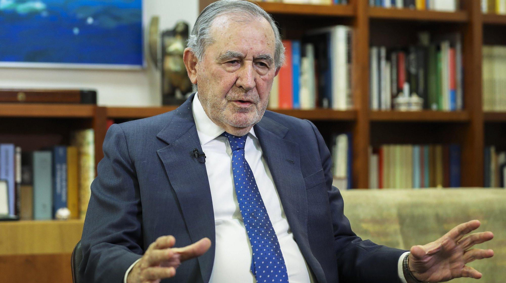 O antigo Presidente da República, Ramalho Eanes, durante uma entrevista à Agência Lusa em Lisboa, 5 de fevereiro de 2019. (ACOMPANHA TEXTO DE 07/02/2019) JOÃO RELVAS/LUSA