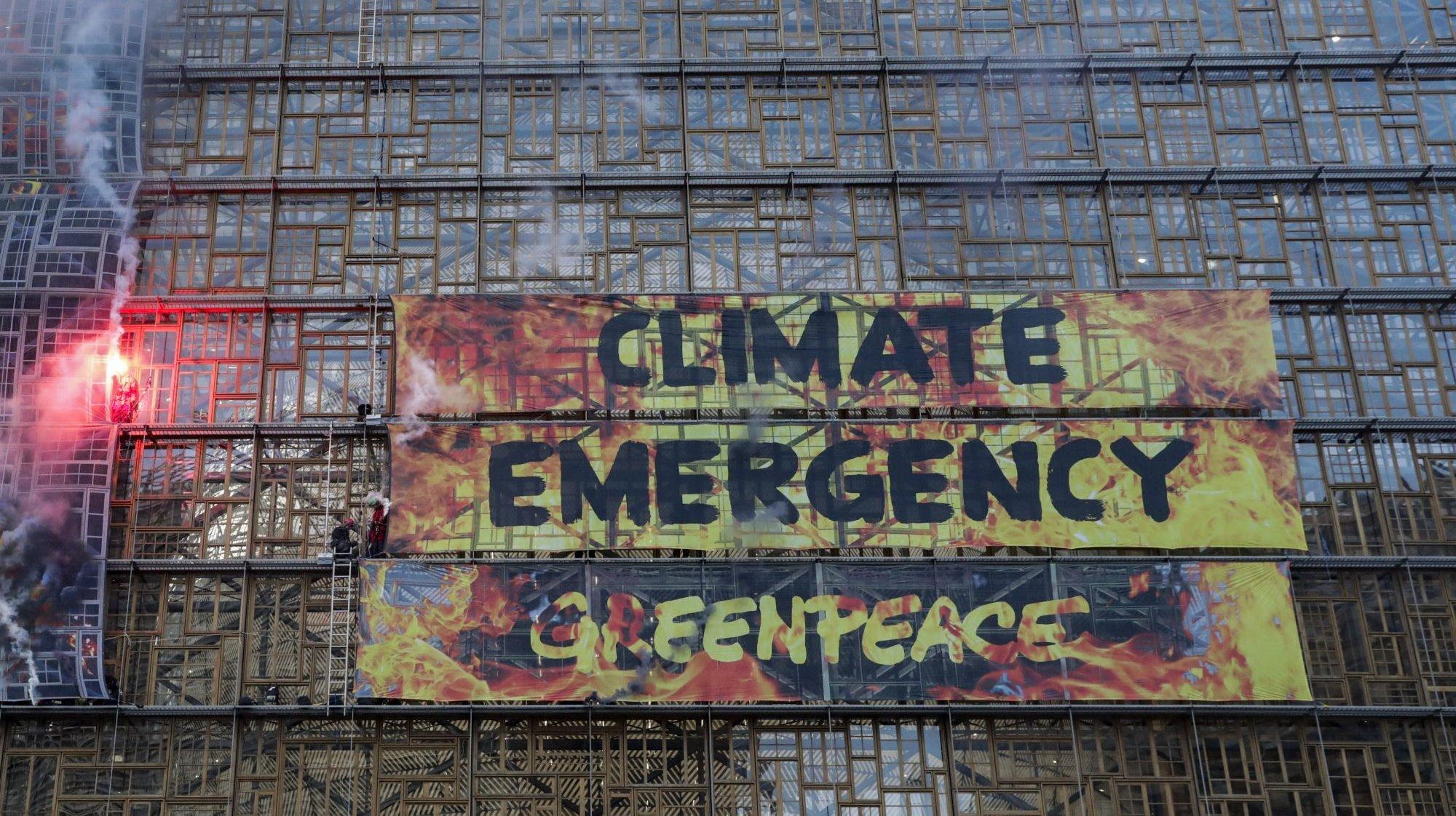 EU Summit Greenpeace Action