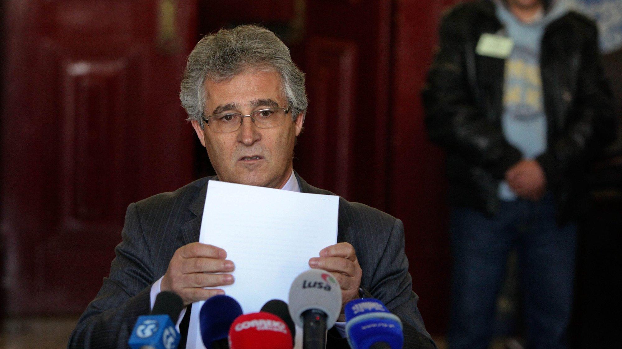 O Presidente do Tribunal da Relação de Lisboa,  Luis Maria Vaz das Neves, durante a  leitura da sentença sobre o processo Csa Pia, 23 fevereiro 2012, em Lisboa.  MANUEL DE ALMEIDA / LUSA
