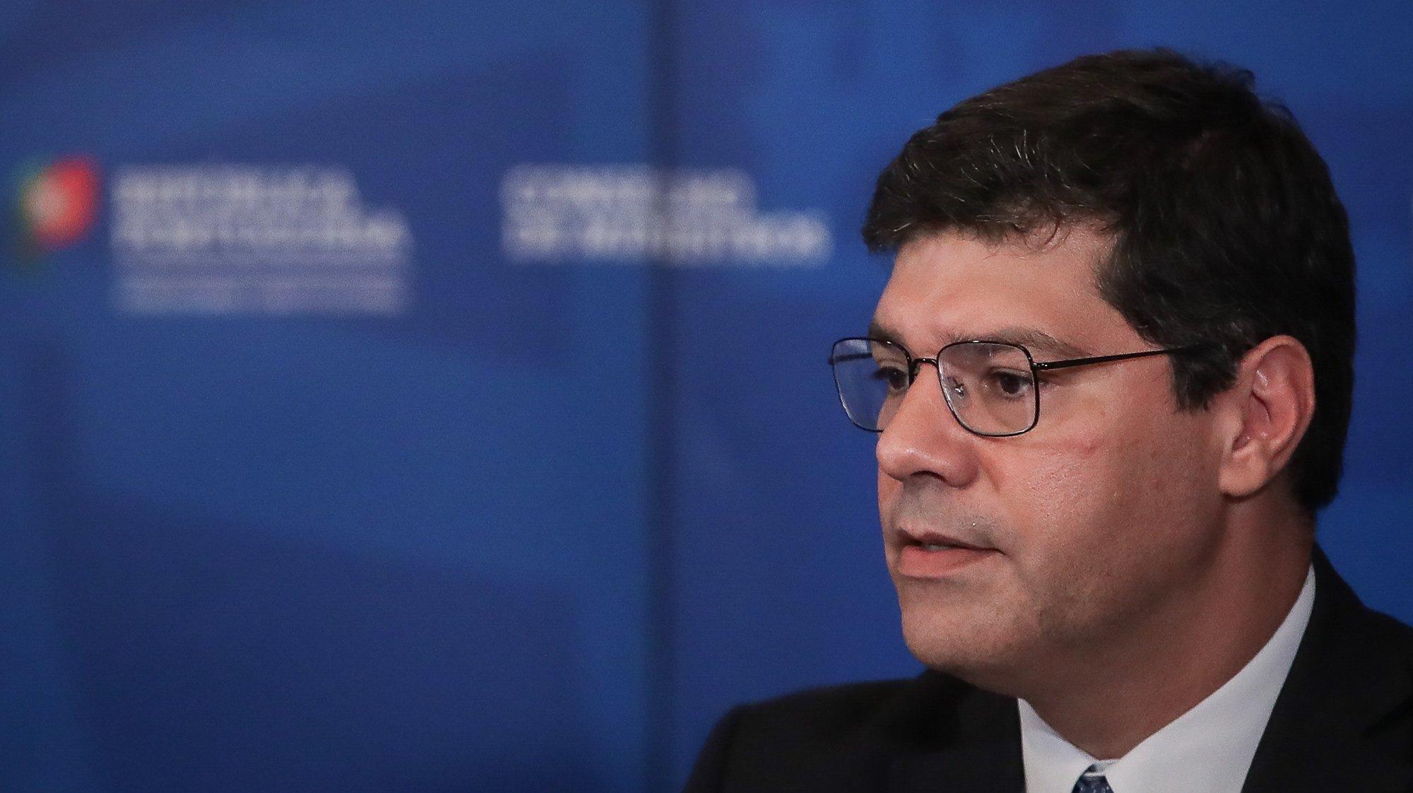 O secretário de Estado da Internacionalização, Eurico Brilhante Dias, durante a conferência de imprensa no final da reunião do Conselho de Ministros, no Palácio Nacional da Ajuda, em Lisboa, 23 de julho de 2020. MÁRIO CRUZ/POOL/LUSA