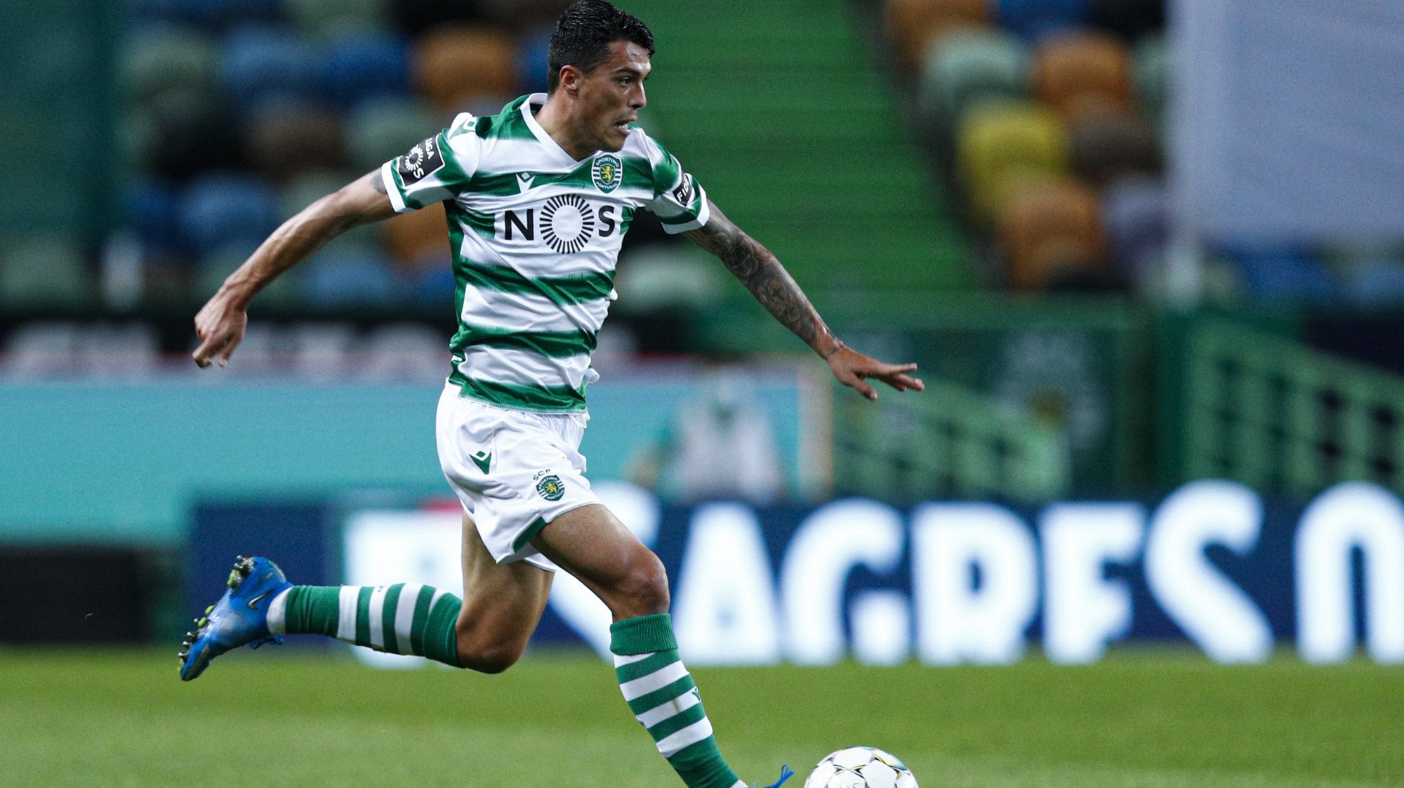 Sporting´s player  Pedro Porro, in action during their Portuguese First League soccer match held at Alvalade Stadium in Lisbon, Portugal, 21st April 2021.  ANTONIO COTRIM/LUSA