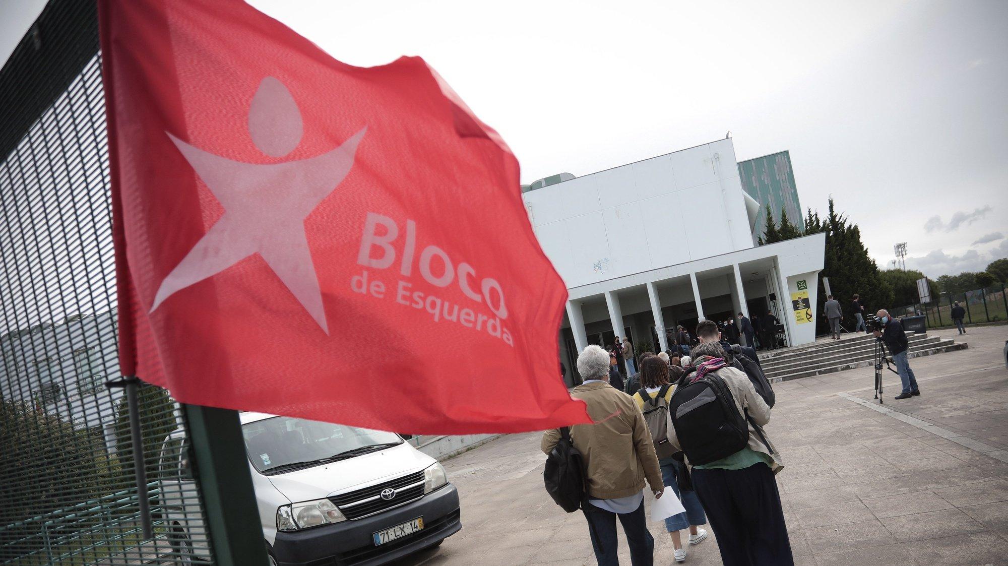 Medidas de distanciamento adoptadas durante a XII Convenção Nacional do Bloco de Esquerda, realizada no Pavilhão de congressos e desportos em Matosinhos, 22 de Maio de 2021. MANUEL FERNANDO ARAUJO/LUSA