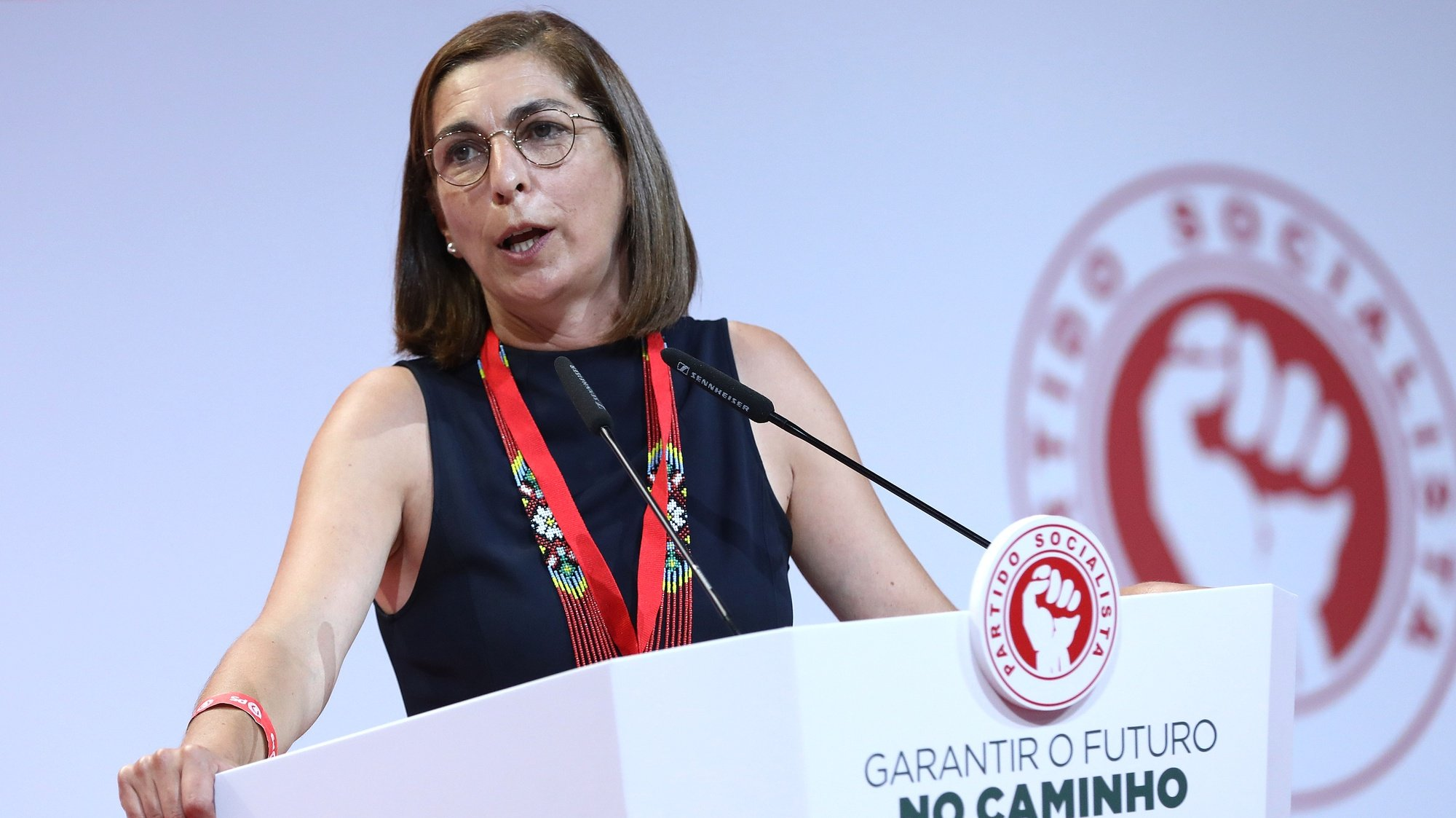 A líder parlamentar do Partido Socialista (PS), Ana Catarina Mendes, intervém durante o XXIII Congresso Nacional do Partido, em Portimão, 28 de agosto de 2021. ANTÓNIO PEDRO SANTOS/LUSA