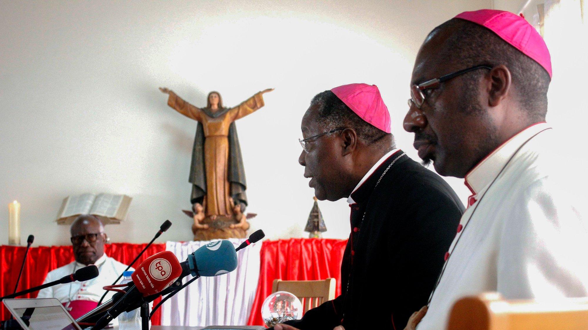 Sessão de abertura da 1ª Assembleia Ordinária dos Bispos da Conferência Episcopal de Angola e São Tomé (CEAST) presidida pelo seu presidente Dom Filomeno Vieira Dias e vice presidente José Manuel Imbamba, Luanda, Angola, 13 de março de 2019. AMPE ROGÉRIO/LUSA