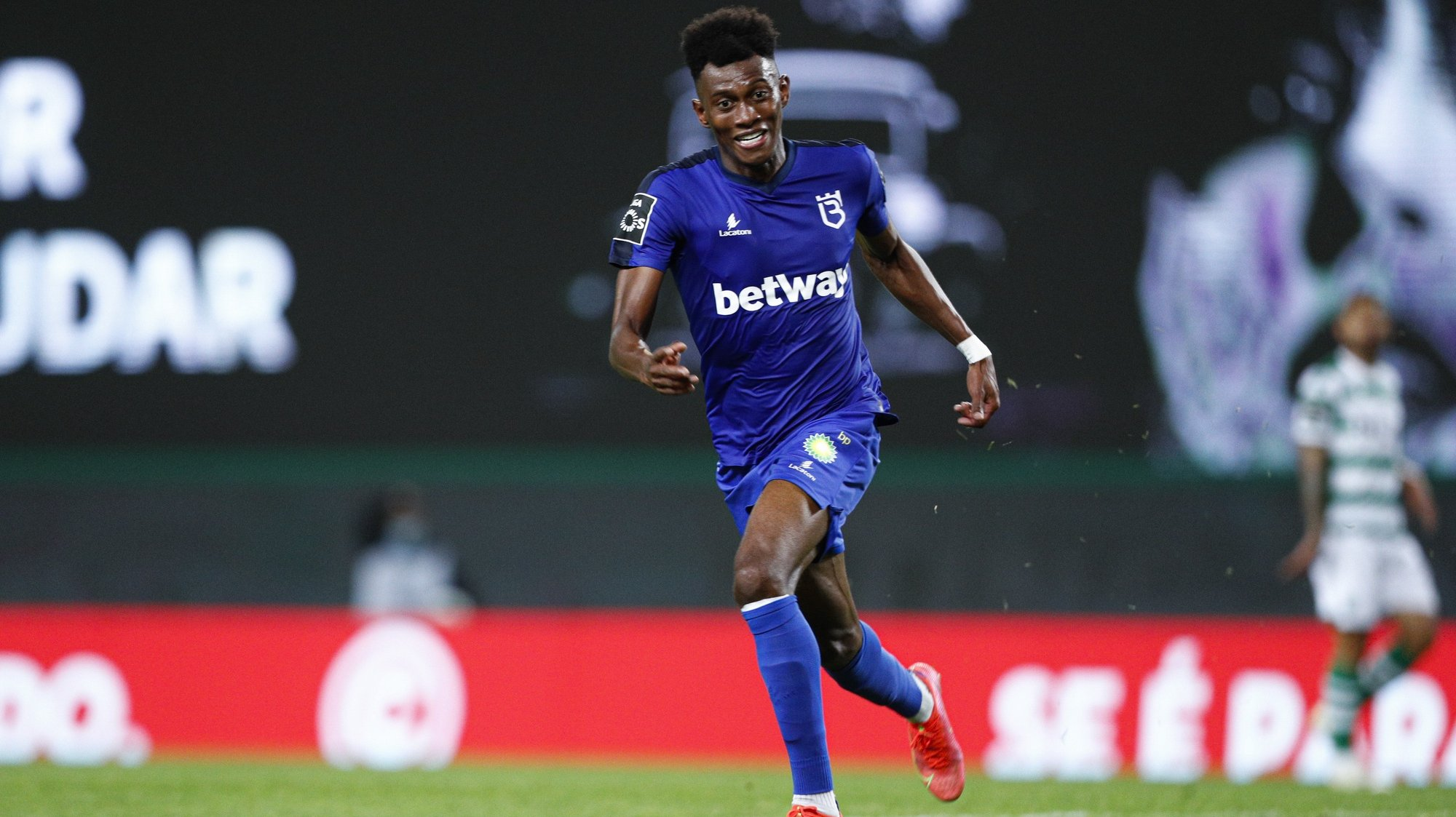 Belenenses player  Mateo Cassierra in action during their Portuguese First League soccer match held at Alvalade Stadium in Lisbon, Portugal, 21st April 2021.  ANTONIO COTRIM/LUSA
