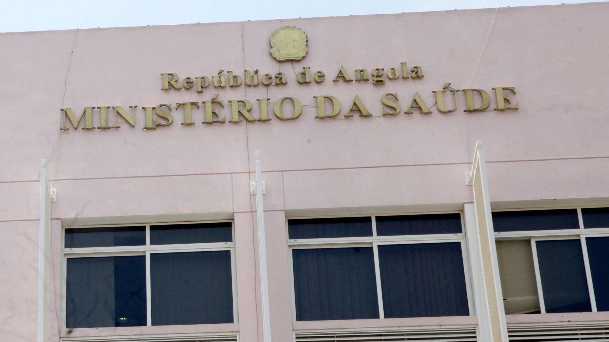 Pormenor da fachada do edifício do Ministério da Saúde de Angola, em Luanda, Angola, 31 de janeiro de 2020. AMPE ROGÉRIO/LUSA