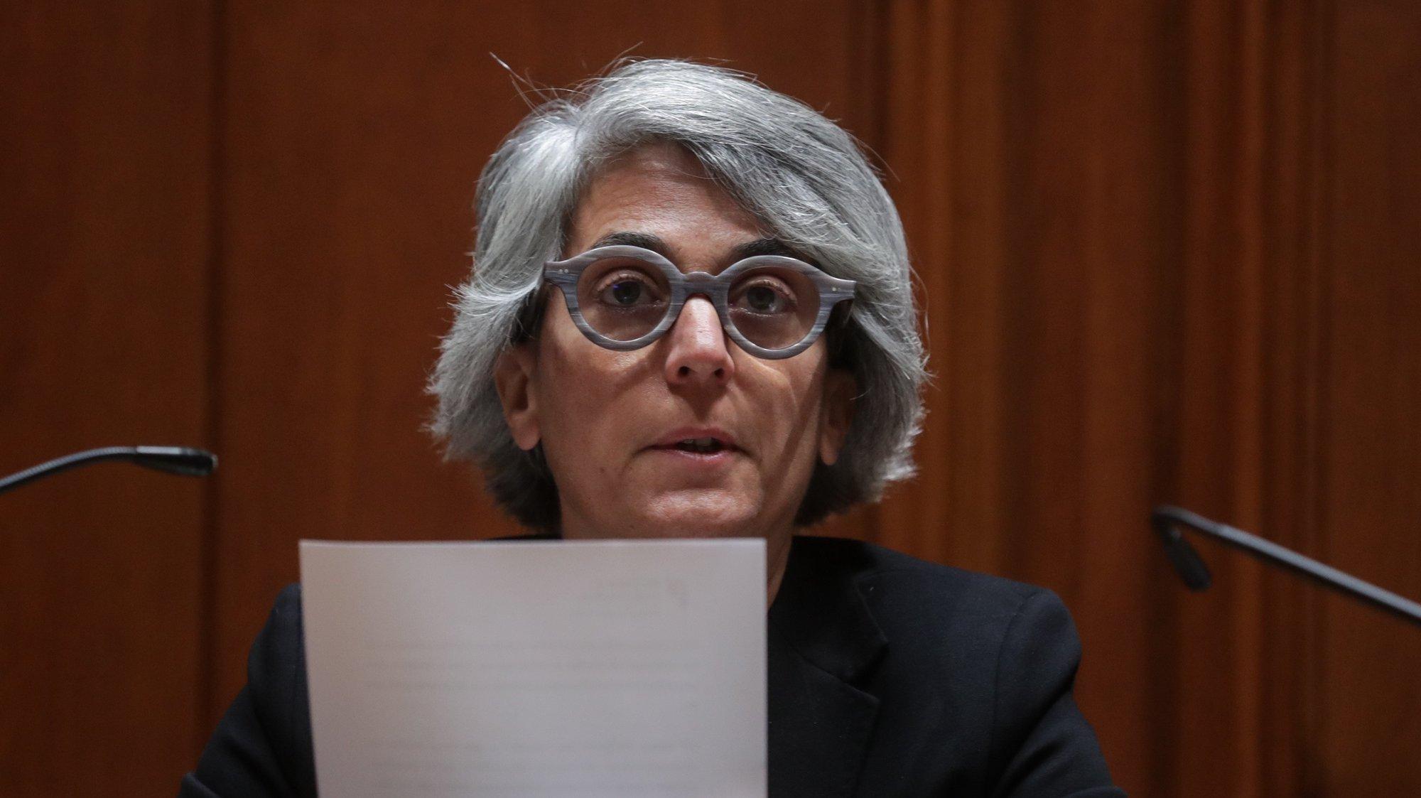 A ministra da Cultura, Graça Fonseca, intervém durante a sua audição na Comissão de Orçamento e Finanças, na Assembleia da República, em Lisboa, 09 de novembro de 2020. TIAGO PETINGA/LUSA