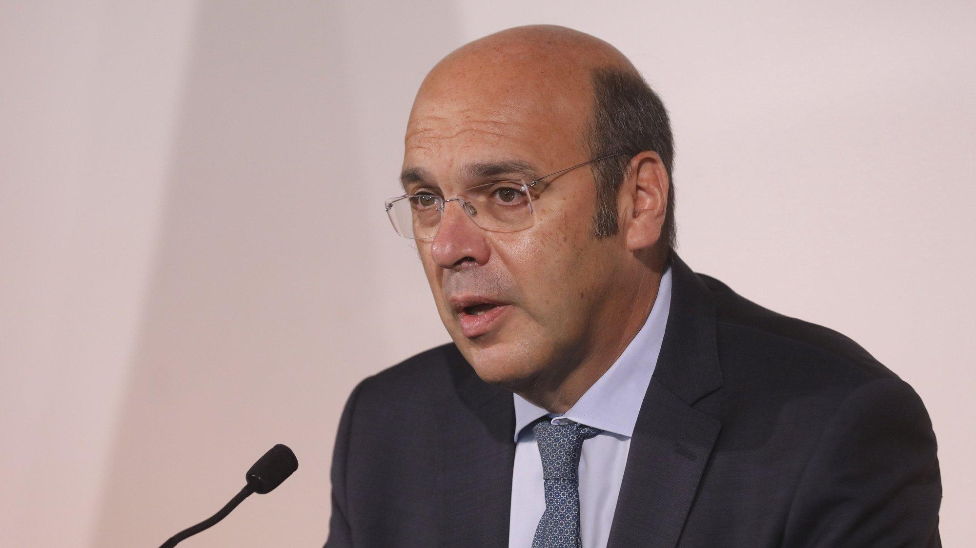 O ministro de Estado, da Economia e da Transição Digital, Pedro Siza Vieira intervém na conferência de imprensa sobre a edição 2021 da Web Summit sobre os detalhes e novidades sobre a edição 2021 da Web Summit, que terá lugar em Lisboa de 1 a 4 de novembro. Lisboa, 28 de setembro de 2021. MIGUEL A. LOPES/LUSA
