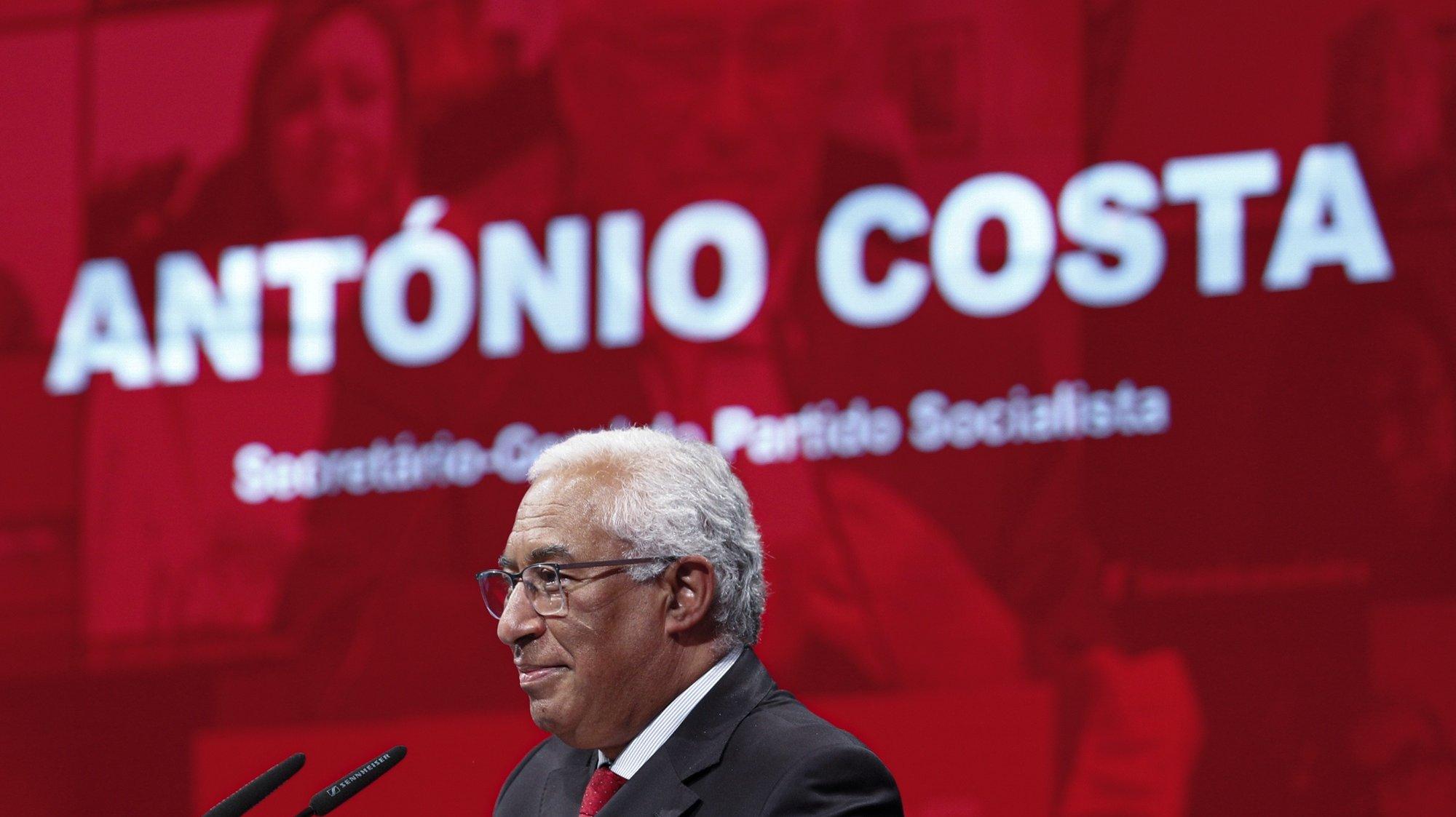 O secretário-geral do Partido Socialista (PS), António Costa, intervém durante a cerimónia comemorativa do 48º aniversário do partido, Lisboa, 19 de abril de 2021. ANTÓNIO COTRIM/LUSA