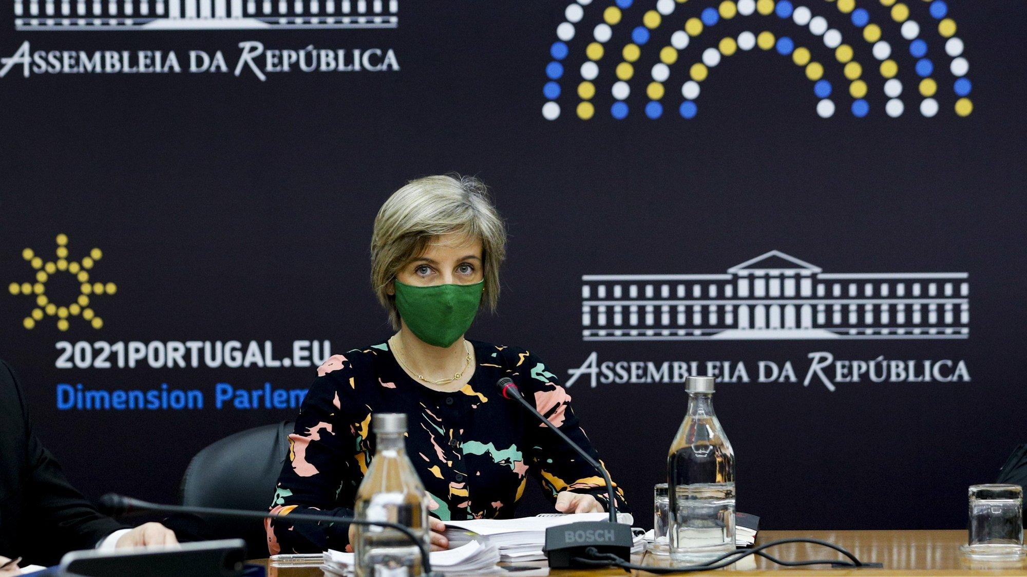 A ministra da Saúde, Marta Temido, durante a sua audição perante a Comissão de Saúde, na Assembleia da República, em Lisboa, 10 de fevereiro de 2021. ANTÓNIO COTRIM/LUSA