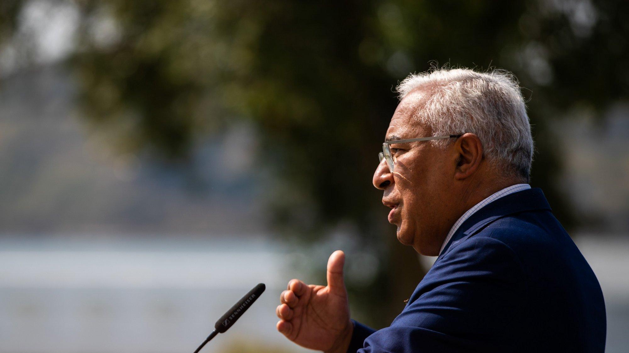 O primeiro-ministro, António Costa, usa da palavra durante uma sessão de assinatura de contratos de investimento, no Centro Cultural de Belém, em Lisboa, 20 de julho de 2021. JOSÉ SENA GOULÃO/LUSA