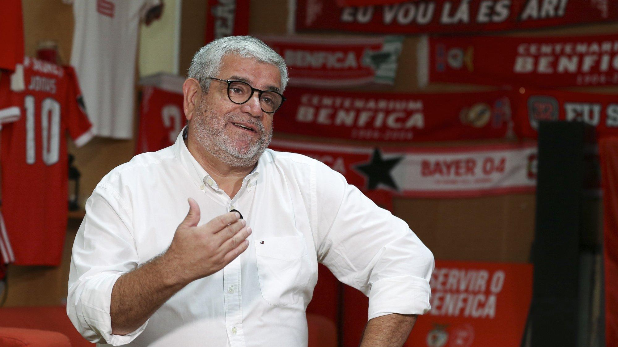 Francisco Benitez, candidato à presidência do SL Benfica, durante entrevista à Agência Lusa na sede de candidatura, em Lisboa, 4 de outubro de 2021. ( ACOMPANHA TEXTO DO DIA 7 DE OUTUBRO DE 2021). MANUEL DE ALMEIDA/LUSA