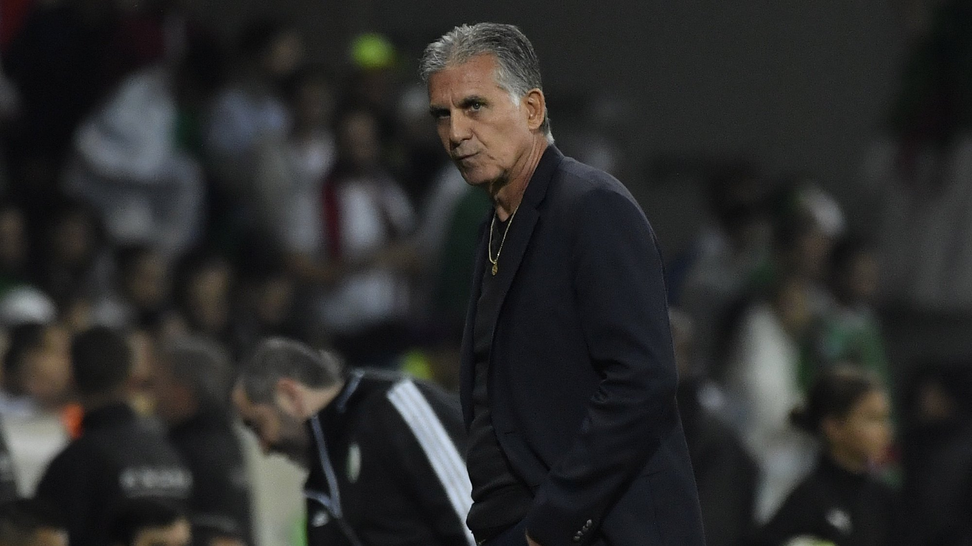 epa07923706 Colombia's headcoach Carlos Queiroz during the friendly international between Algeria vs Colombia at the Pierre Mauroy Stadium in Villeneuve-d'Ascq, near Lille, France, 15 October 2019.  EPA/JULIEN DE ROSA