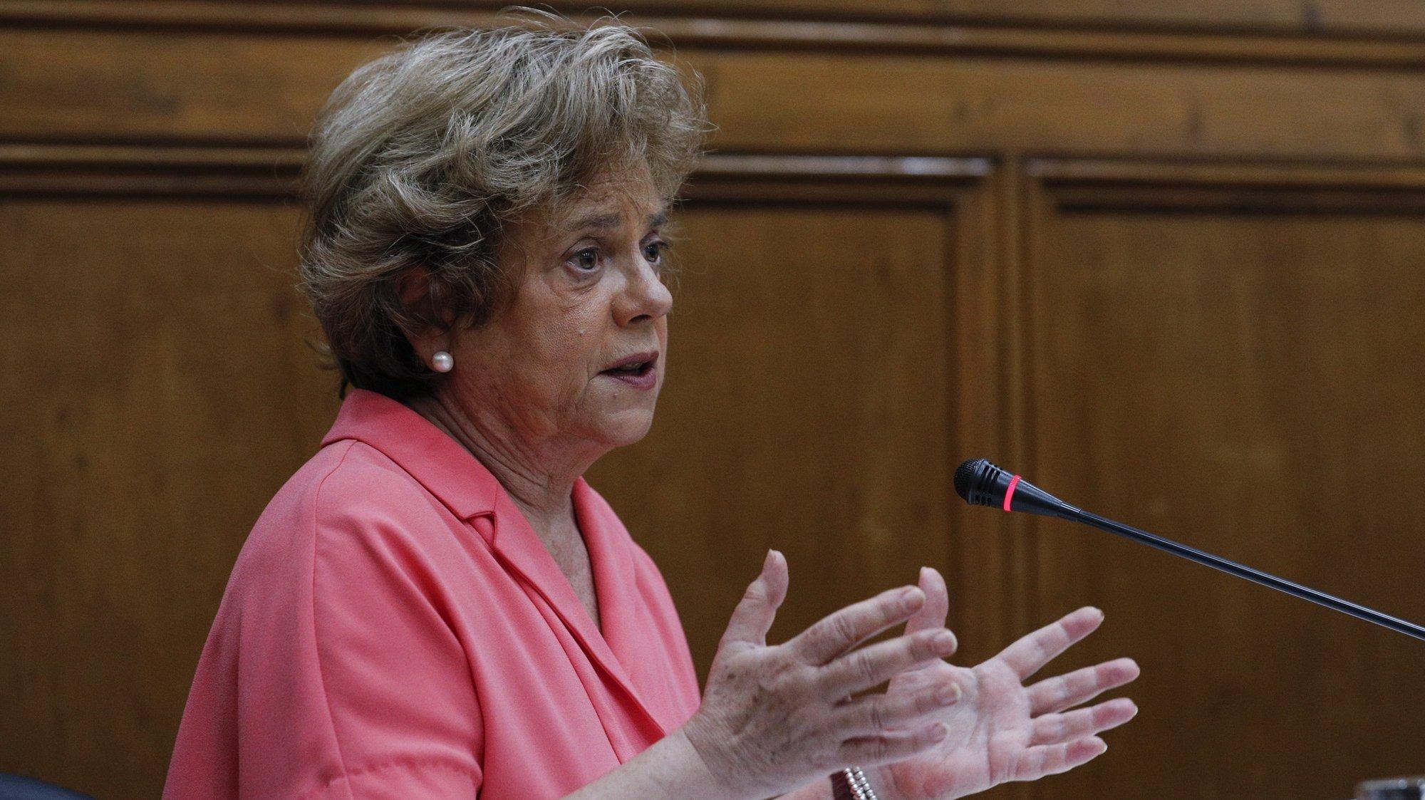 A provedora de Justiça, Maria Lúcia Amaral, durante a audição perante a Comissão de Administração Pública, Modernização Administrativa, Descentralização e Poder Local, na Assembleia da República, em Lisboa, 23 de junho de 2021. ANTÓNIO COTRIM/LUSA