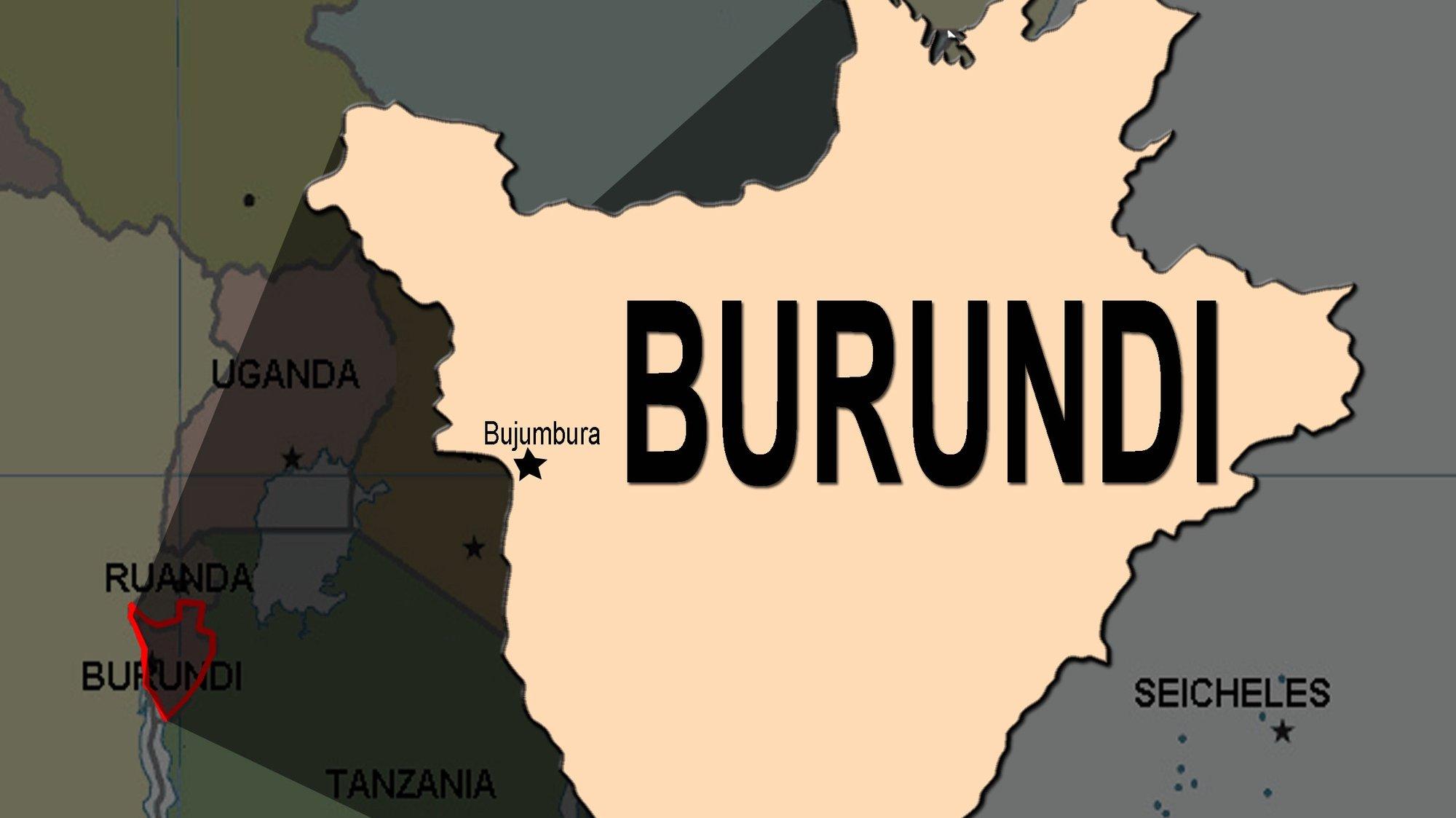 Mapa do Burundi RICARDO BERNARDO / LUSA
