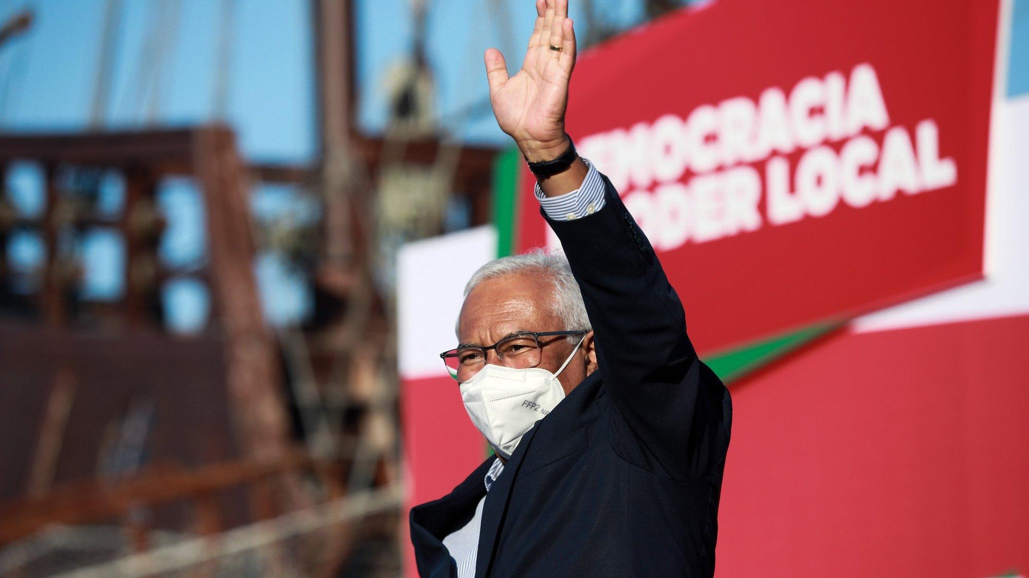 O secretário-geral do Partido Socialista (PS), António Costa, discursa durante a apresentação dos candidatos autárquicos do distrito do Porto, em Vila do Conde, 30 de julho de 2021. ESTELA SILVA/LUSA