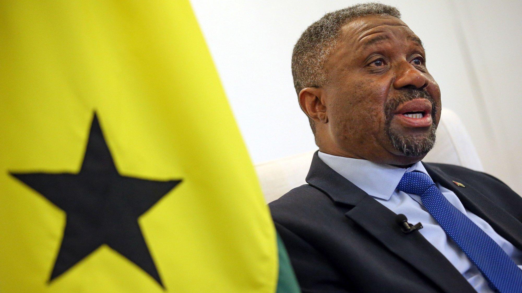 O primeiro-ministro de São Tomé e Príncipe, Jorge Bom Jesus, durante uma entrevista à Lusa. São Tomé, 09 de setembro de 2021.(ACOMPANHA TEXTO DO DIA 11 DE SETEMBRO 2021).   NUNO VEIGA/LUSA