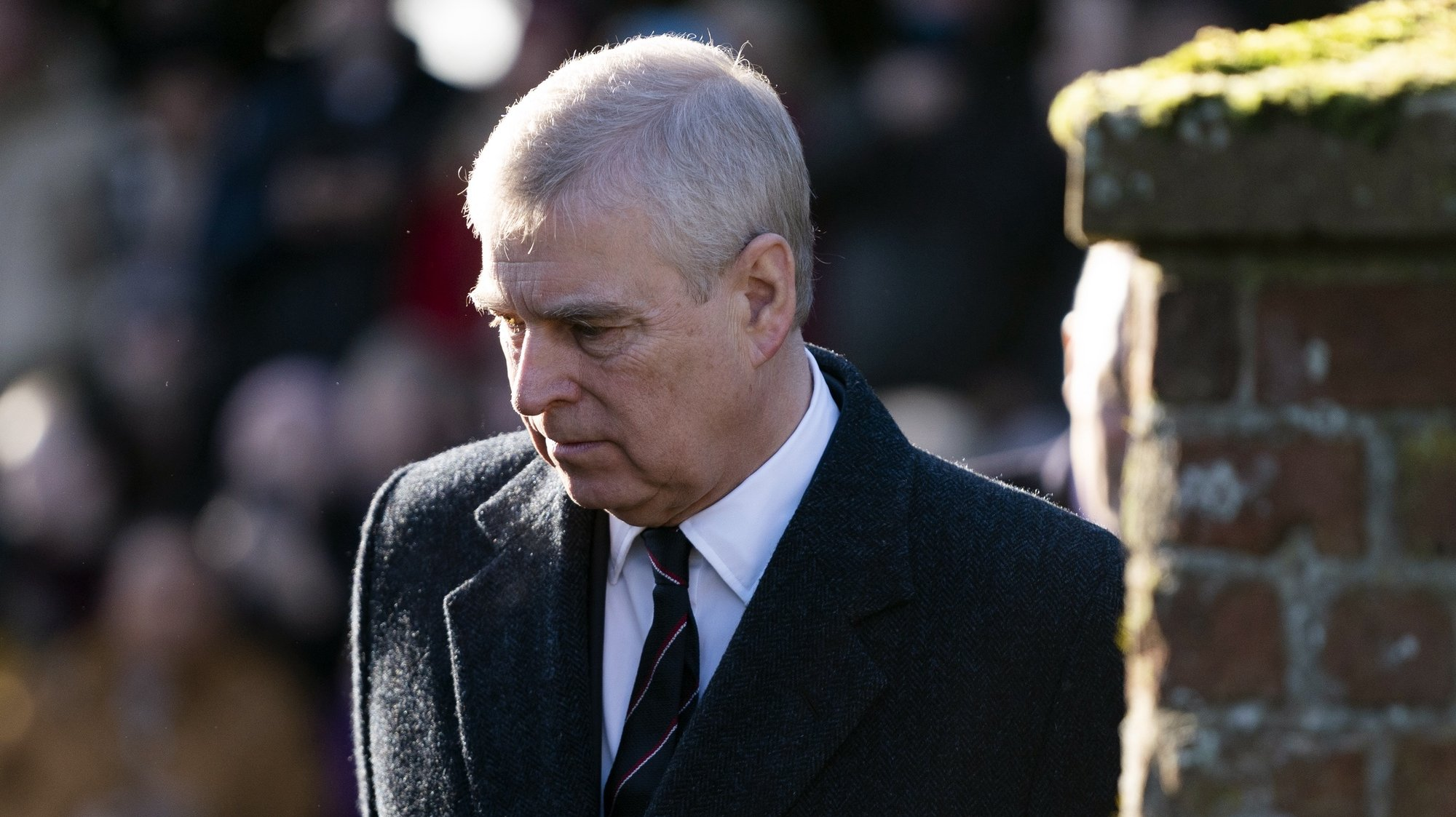 epa08760960 YEARENDER 2020  PERSONALITIES  Britain's Prince Andrew, Duke of York arrives for a church service with Queen Elizabeth II (unseen) at St Mary the Virgin in Hillington, Norfolk, Britain, 19 January 2020. Prince Andrew had been asked by US authorities to testify in the Epstein sexual abuse case.  EPA/WILL OLIVER *** Local Caption *** 55780798