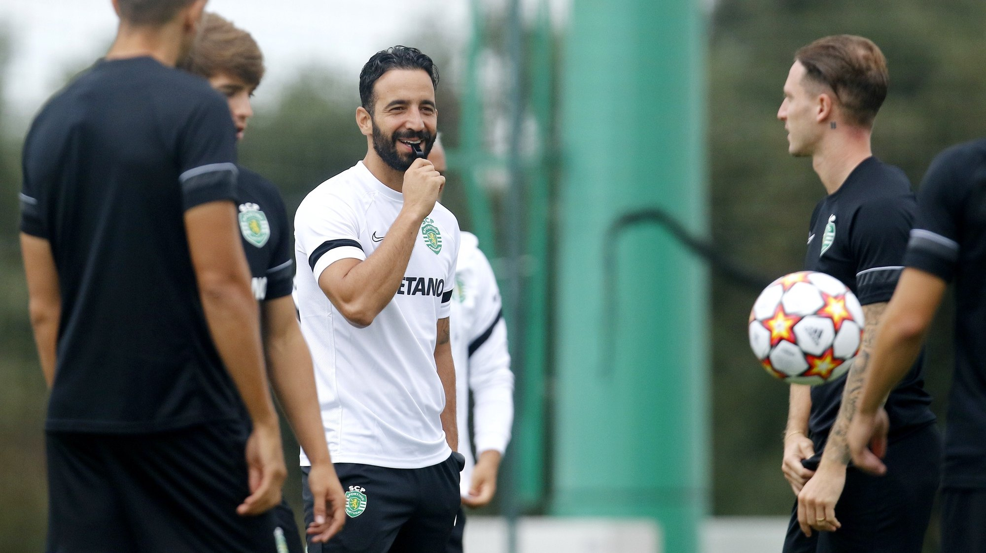 Sporting head coach Ruben Amorim during a training session in preparation for the upcoming Champions League soccer match with Ajax, Alcochete, Portugal, 14th September 2021. RUI MINDERICO/LUSA