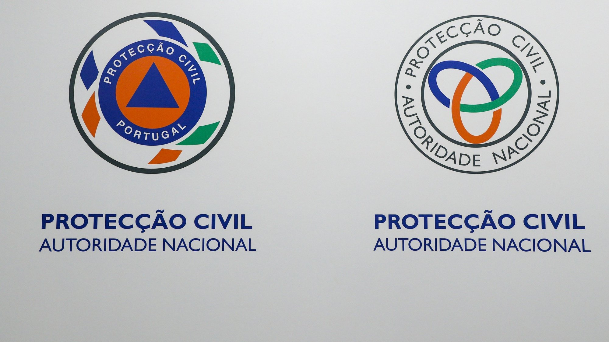 Logotipo da Protecção Civil, Carnaxide, 02 de outubro de 2019. ANTÓNIO COTRIM/LUSA