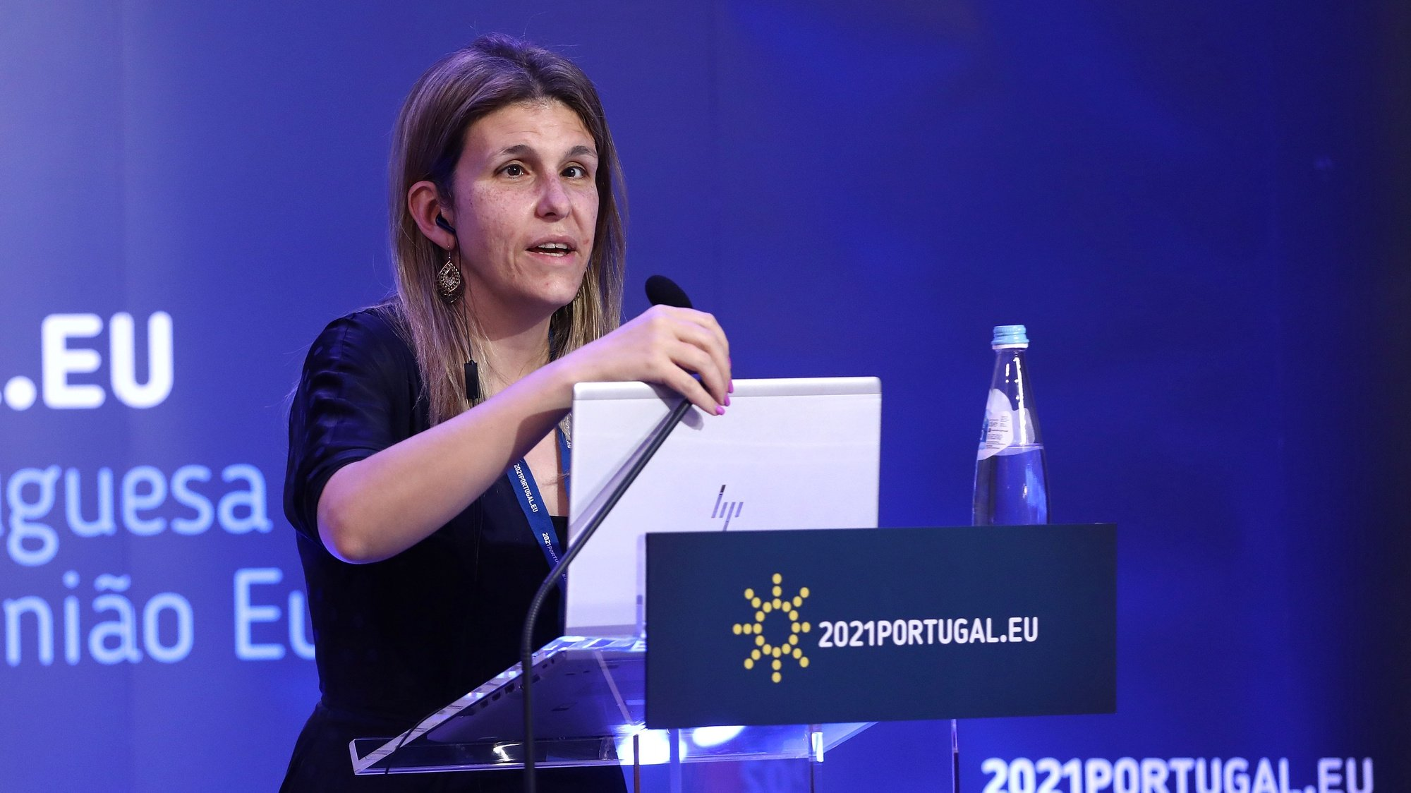 Portuguese Secretary of State for the Inclusion of Persons with Disabilities, Ana Sofia Antunes, attends an high-level video conference on the European Strategy on the Rights of Persons with Disabilities 2021-2030 under the Portuguese Presidency of the European Council, in Lisbon, Portugal, 19 April 2021. Based on the new strategy on the rights of persons with disabilities, the discussion will pay particular attention to essential areas that affect the daily lives of people with disabilities, such as accessibility, independent life, deinstitutionalisation, community-based and person-centred social services, employment and inclusive education. ANTONIO PEDRO SANTOS/LUSA