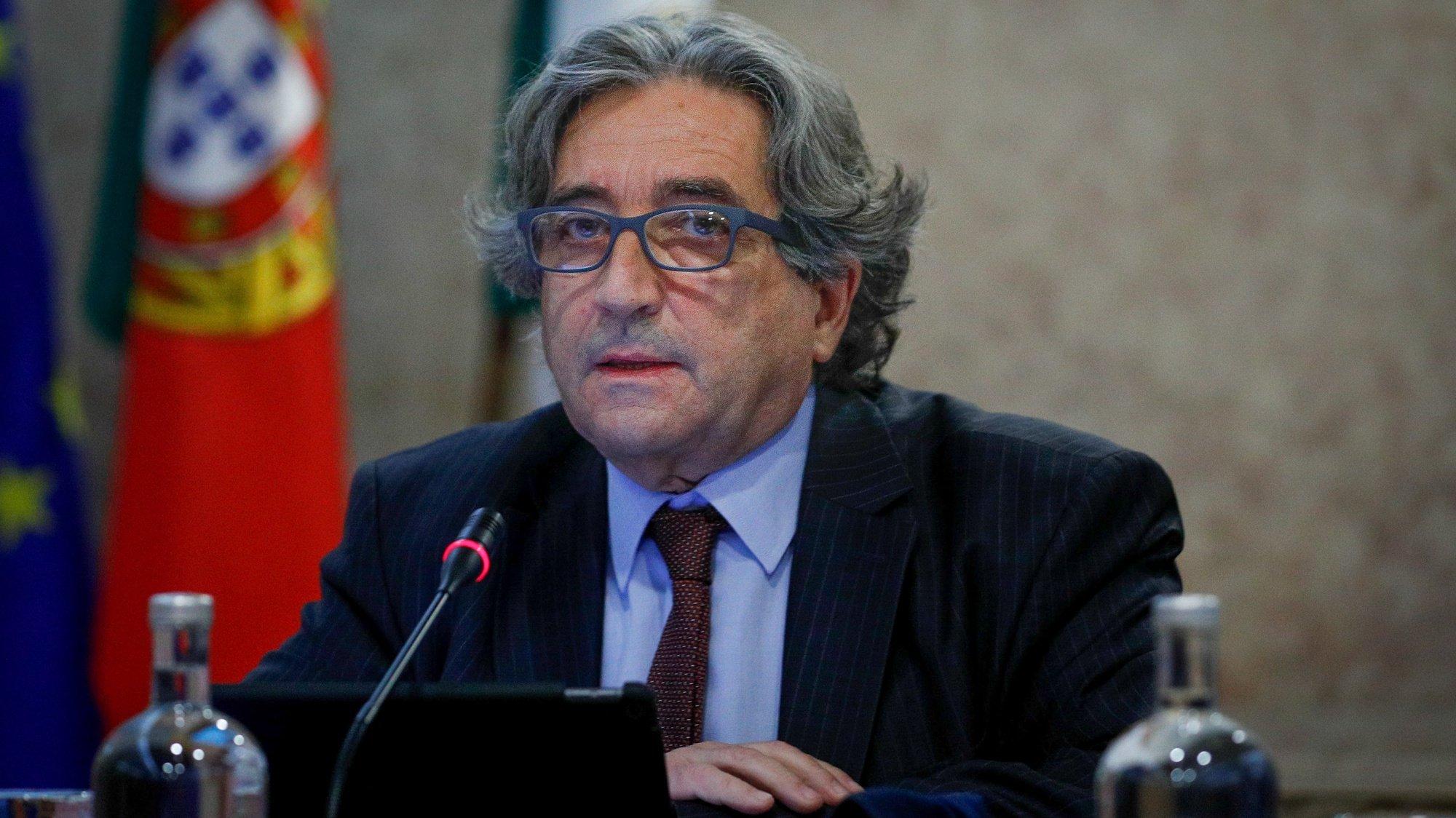 O ministro do Mar,  Ricardo Serrão Santos, durante a sua audição na Comissão de Agricultura e Mar, na Assembleia da República, em Lisboa, 25 de maio de 2021.ANTÓNIO COTRIM/LUSA