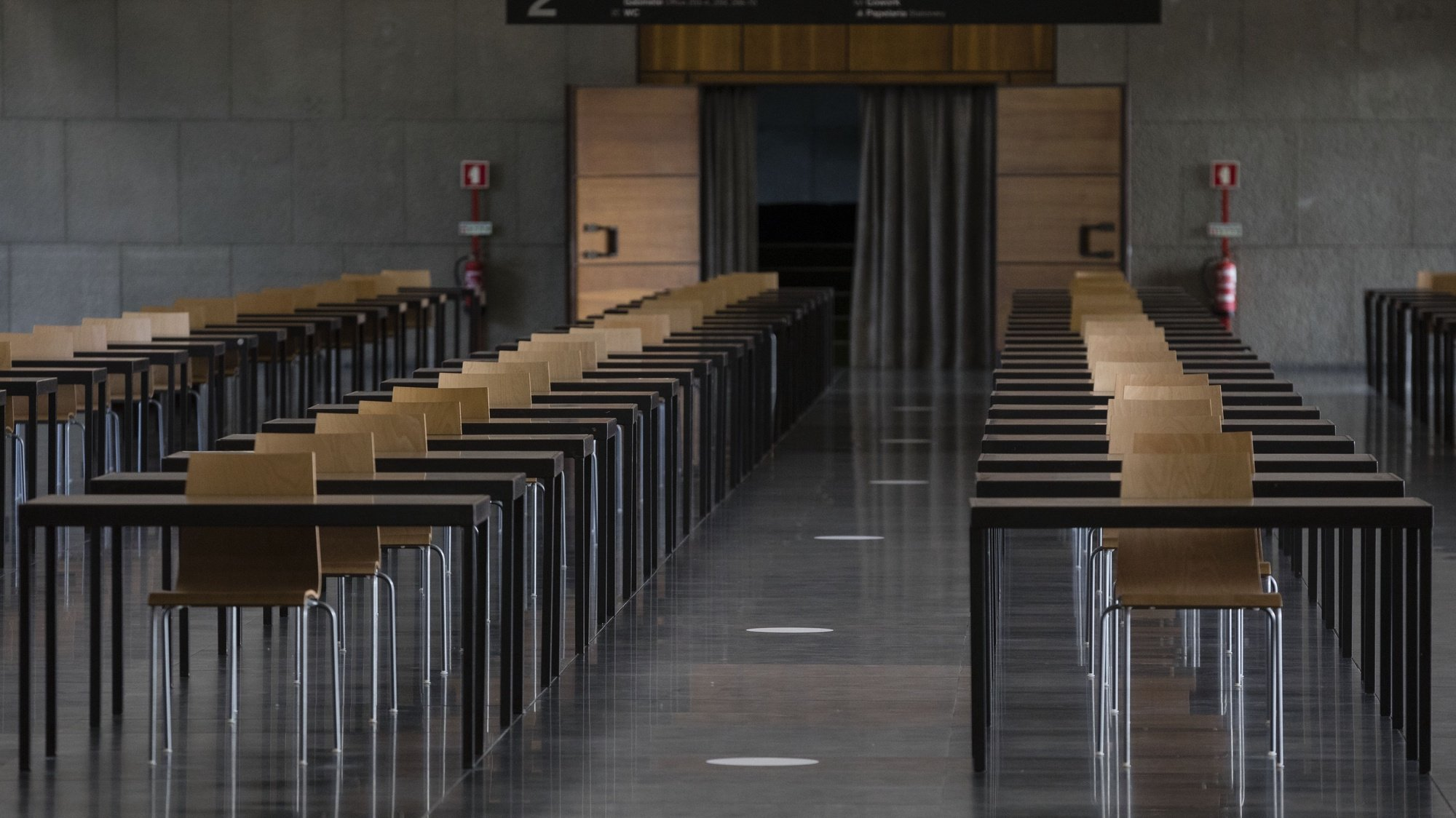 Zona de estudo na Faculdade de Economia da Universidade do Porto, 21 de maio de 2021. JOSÉ COELHO/LUSA