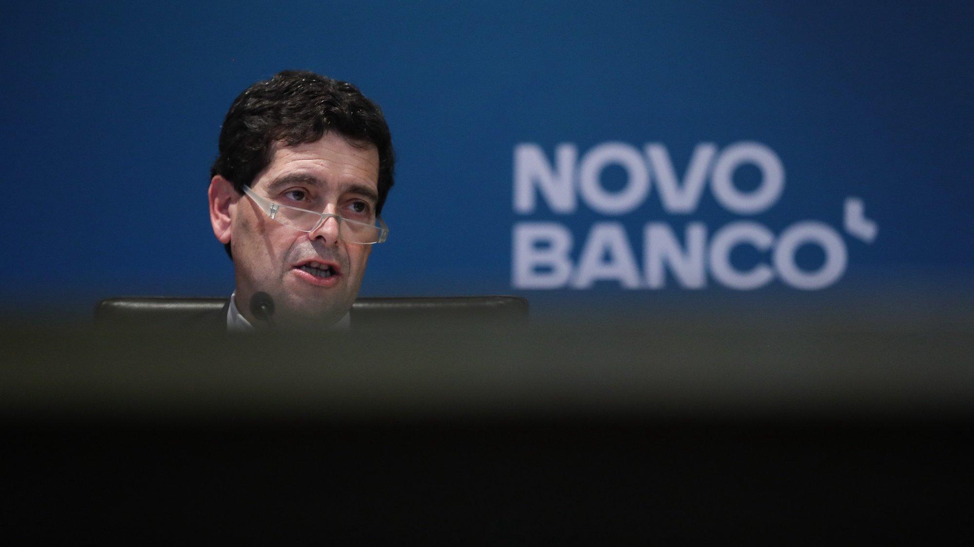 O diretor Executivo do Novo Banco, António Ramalho, durante a conferência de imprensa de apresentação de resultados de 2020, na sede do Novo Banco, em Lisboa, em Lisboa, 26 de março de 2021. MÁRIO CRUZ/LUSA