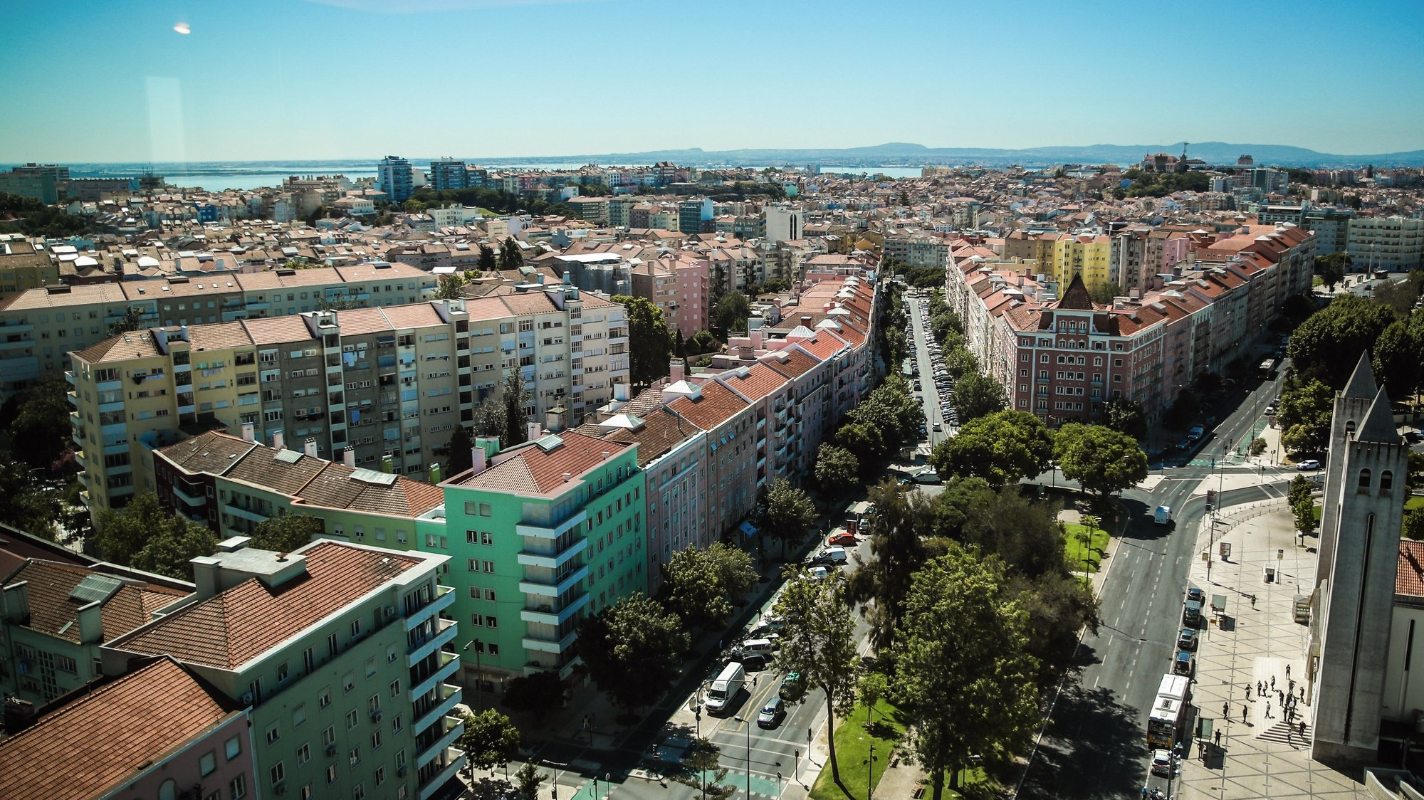 Vista da cidade de Lisboa, 2 de julho de 2021. MÁRIO CRUZ/LUSA