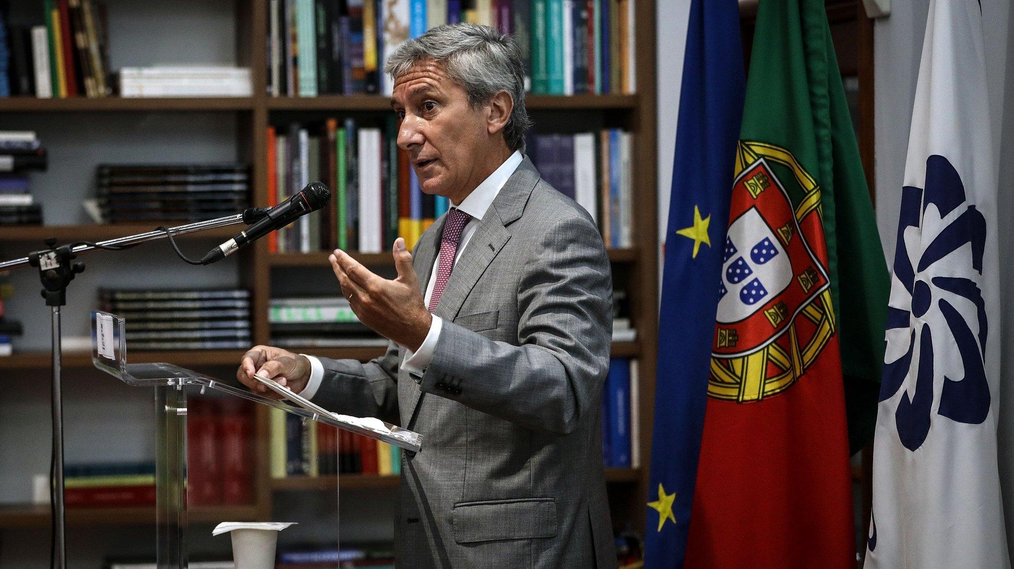 O presidente do Camões - Instituto da Cooperação e da Língua, Luís Faro Ramos, intervém durante a sessão de apresentação Pública da Rede EPE (Ensino Português no Estrangeiro), organizada pelo Camões, em Lisboa, 25 de setembro de 2020. ANTÓNIO PEDRO SANTOS/LUSA