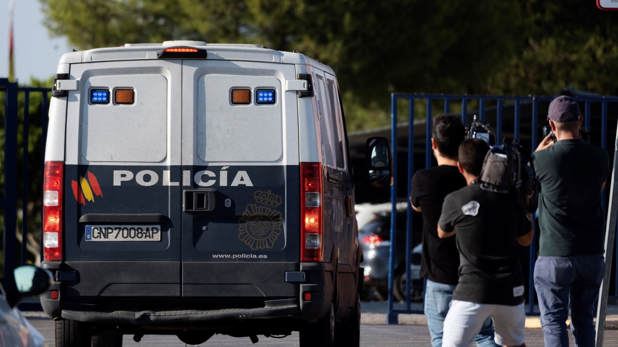 epa07664499 A Spanish National Police van transporting the five men accused of gang raping a woman back in 2016 during the San Fermines Fiesta, leaves a police station after their appearance in accordance to the legal requirements for their release on bail, in Sevilla, Spain, 21 June 2019. Spanish Police has arrested four of the five men popularly known as 'La Manada' (wolfpack) in accordance to the arrest warrant ordered by Navarra Provincial Court after Spanish Supreme Court rose from 9 to 15 years the sentence against them for raping a young woman during San Fermines fiestas back in 2016. The Supreme Court considered that all the five accused committed a sexual assault invalidating the previous sentence by Navarra High Court of Justice that read that the aggression was only a sexual abuse.  EPA/PEPO HERRERA