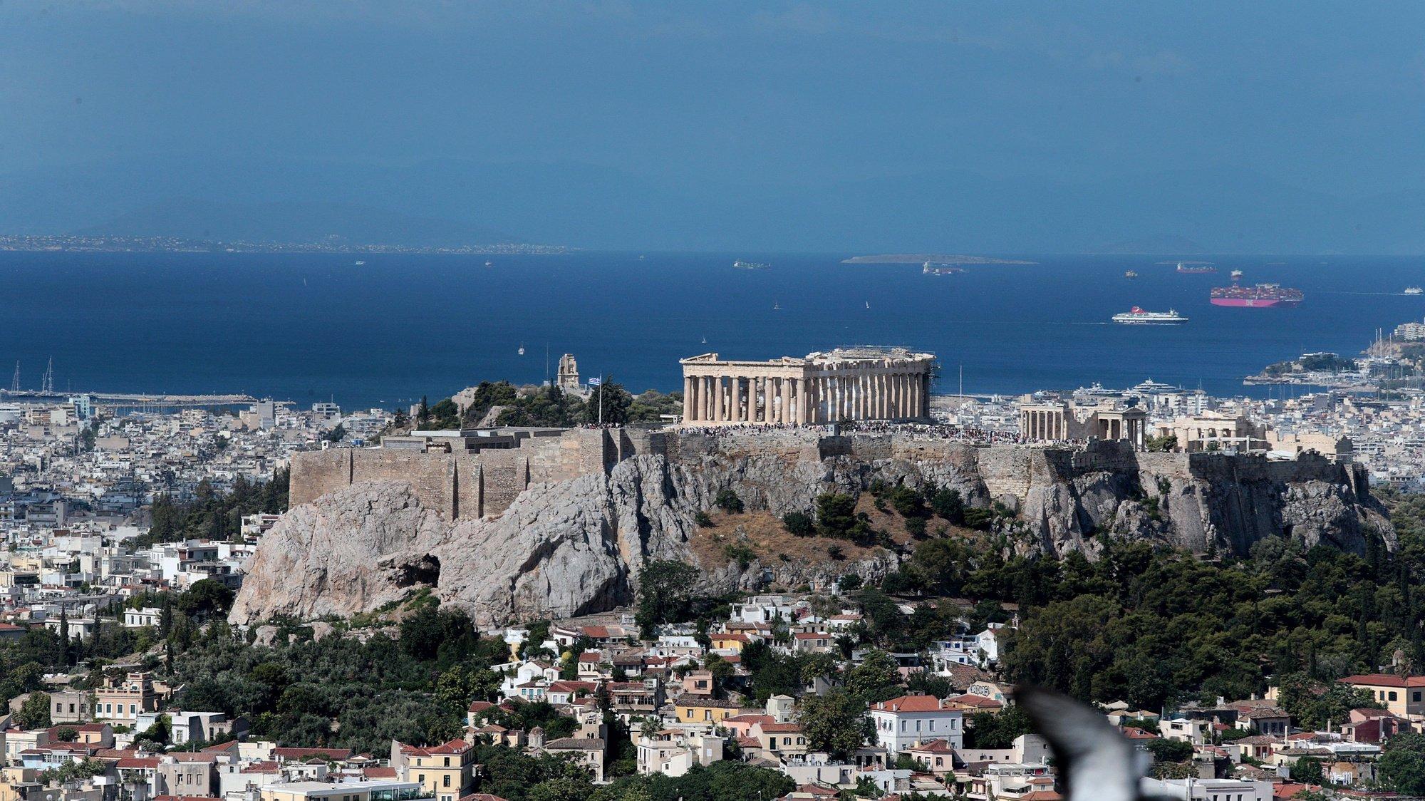 visão geral da Acrópole. Grécia