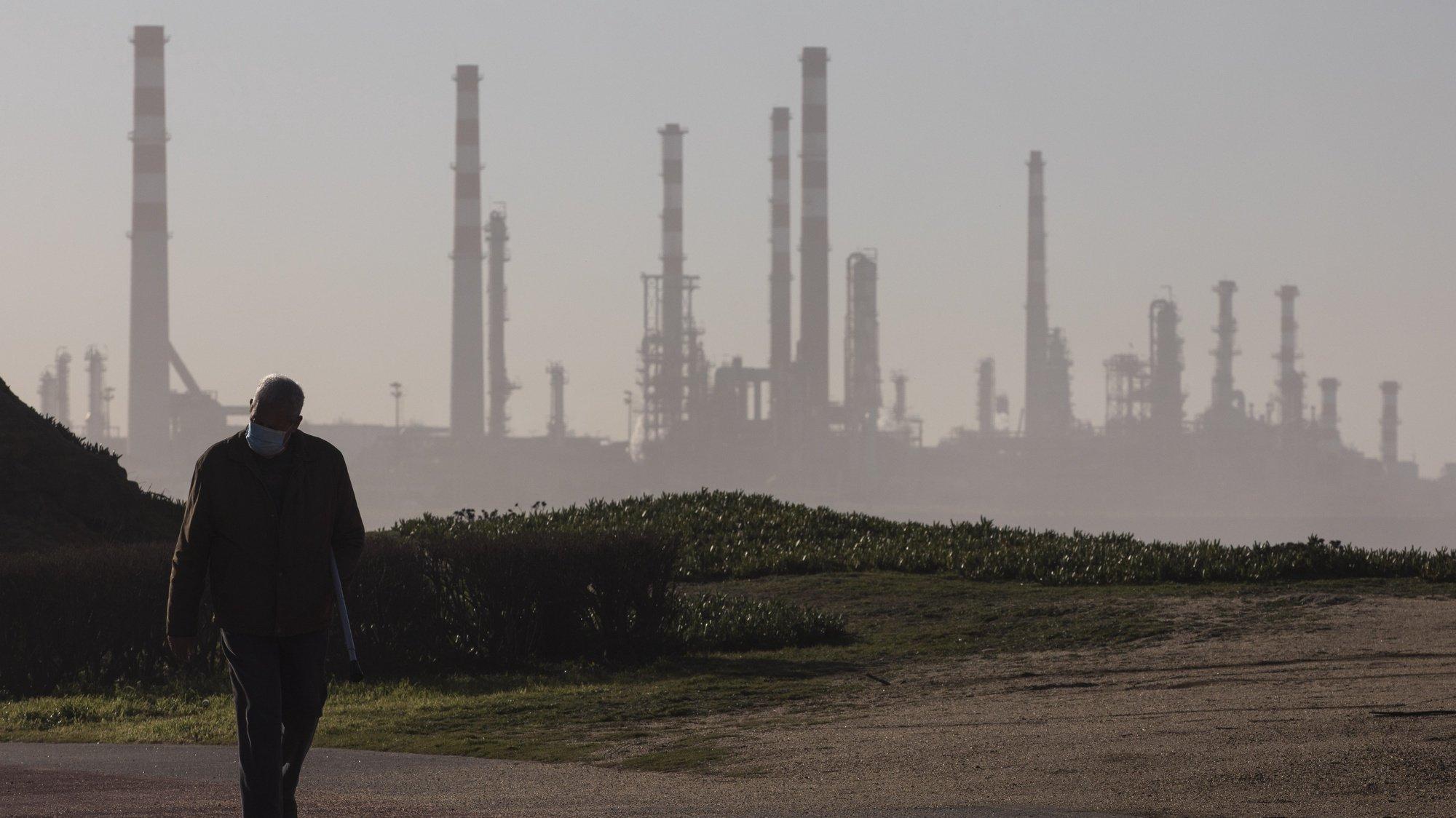 Refinaria da Petrogal em Leça da Palmeira, 24 de fevereiro de 2021. JOSÉ COELHO/LUSA
