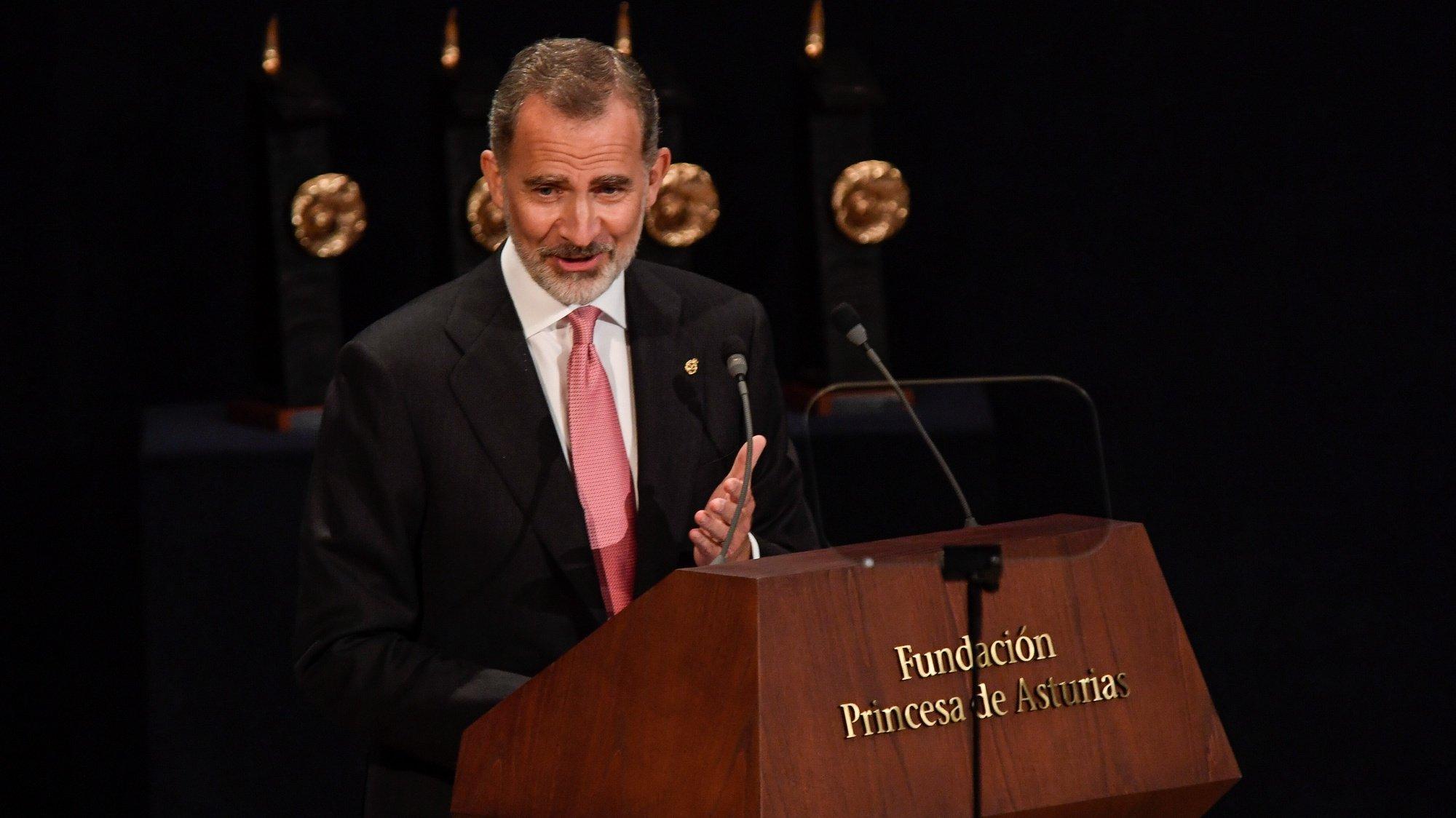 Rei Felipe de Espanha na Cerimónia dos Prémios Princesa das Astúrias