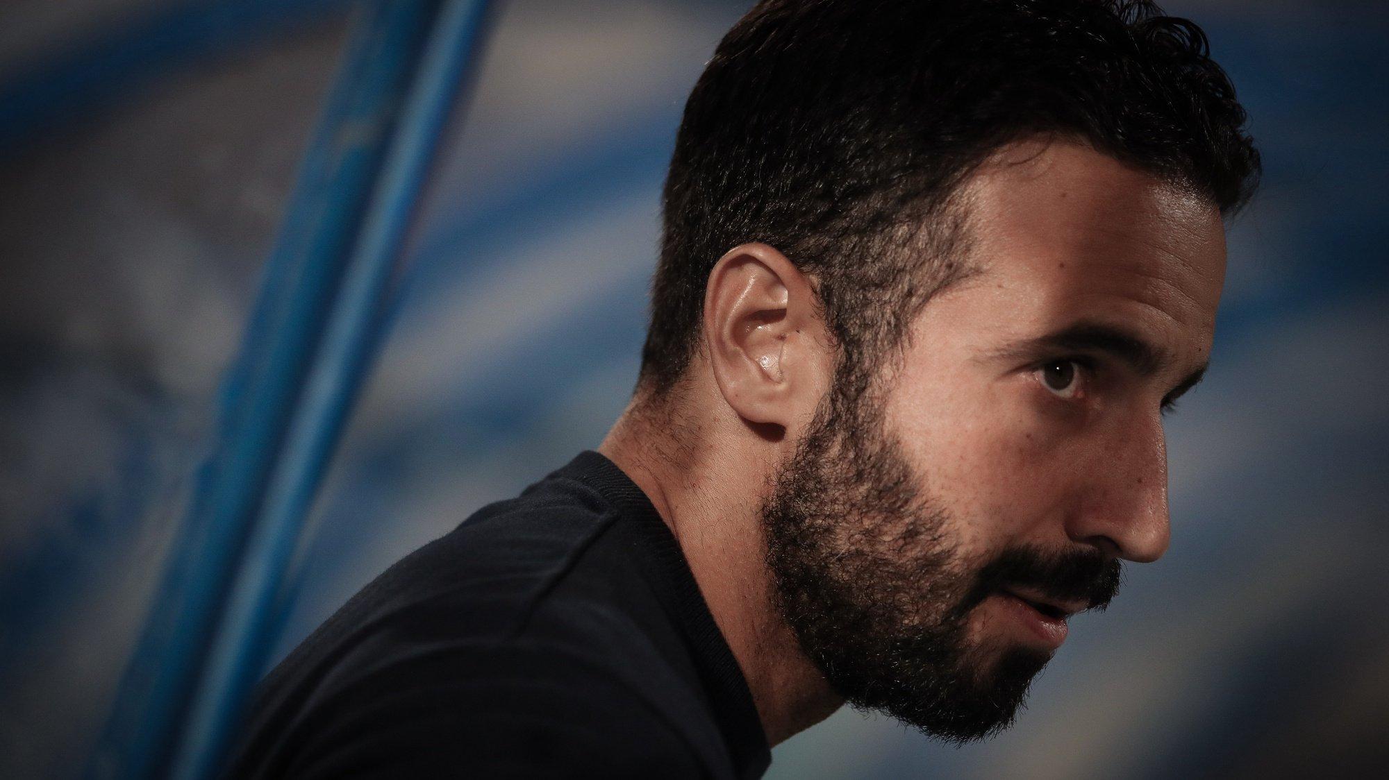 O treinador do Sporting, Rúben Amorim, durante o jogo de futebol da 3ª eliminatória da Taça de Portugal contra o Belenenses, realizado no Estádio do Restelo, em Lisboa, 15 de outubro de 2021. MÁRIO CRUZ/LUSA