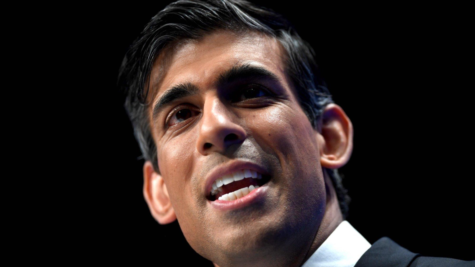 ministro das Finanças britânico, Rishi Sunak