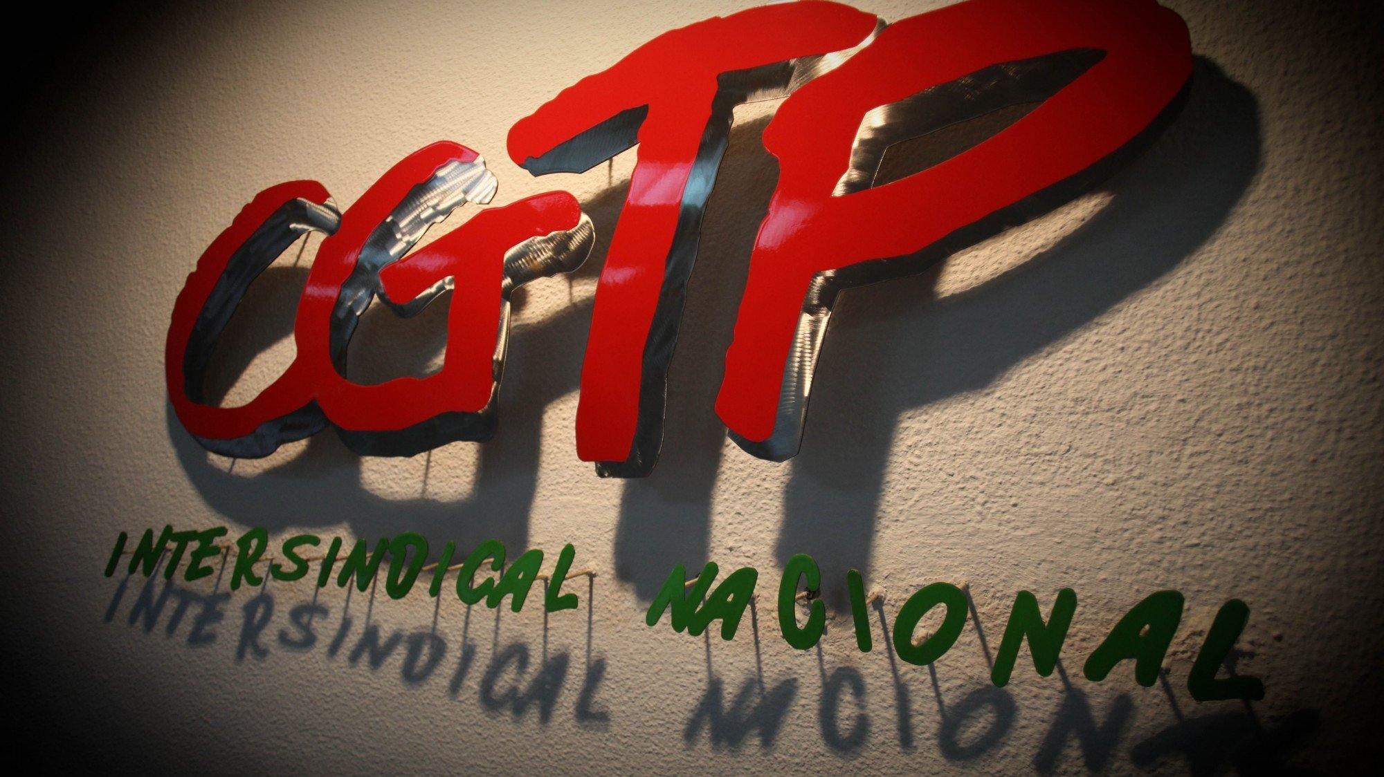 Logotipo da central sindical CGTP-IN INÁCIO ROSA/LUSA