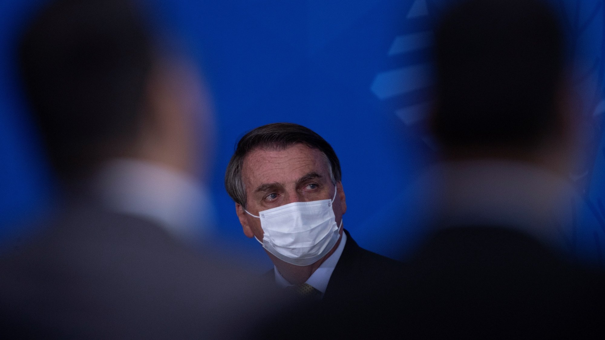 epa09312306 President of Brazil, Jair Bolsonaro, participates in a launch ceremony of the new registration system for Professional Fishermen and Rede Pesca Brasil, at the city's Planalto Palace from Brasilia, Brazil 29 June 2021. The Brazilian Minister of Health, Marcelo Queiroga, announced that the contract signed for the purchase of the Indian vaccine against covid-19, Covaxin, will be 'on hold' until complaints of irregularities in these negotiations are clarified.  EPA/Joedson Alves