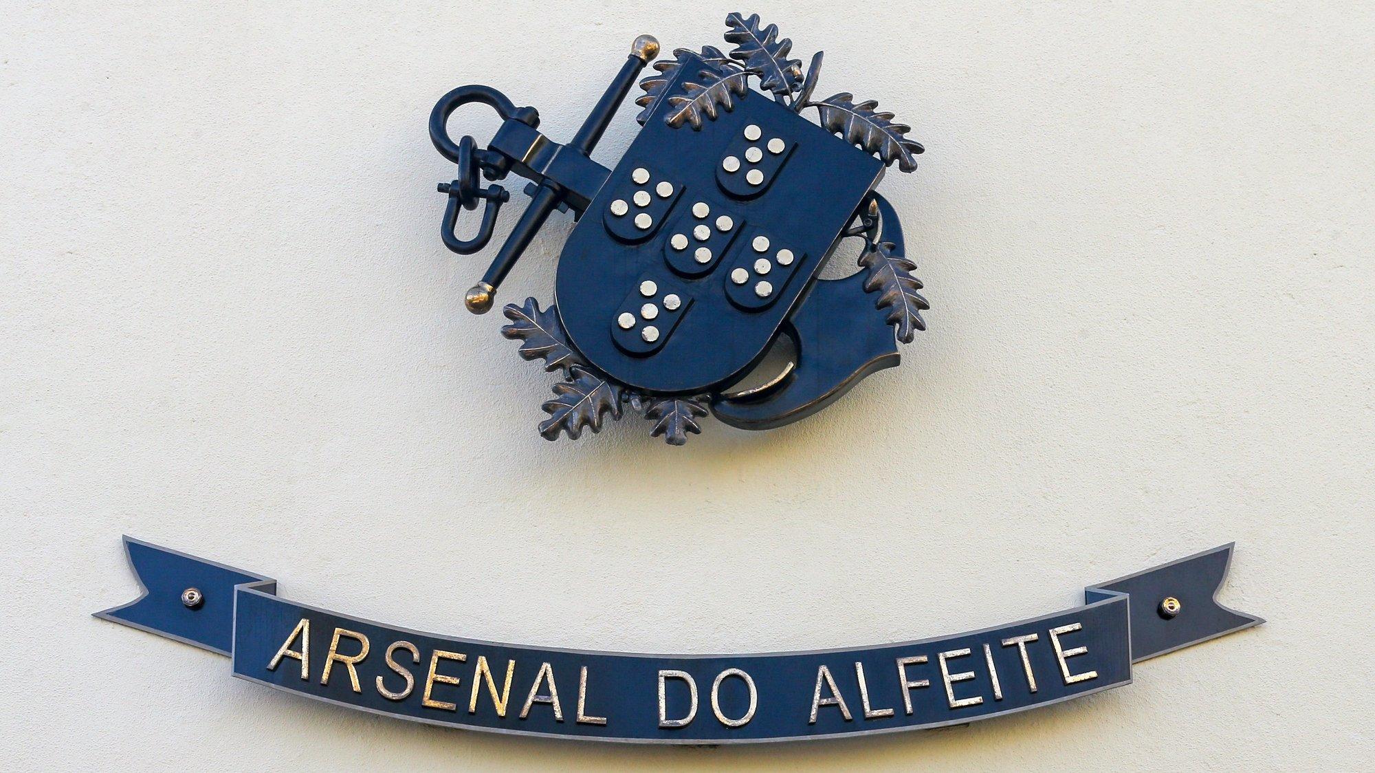 Logotipo do Arsenal do Alfeite, Almada, 24 de junho de 2019. ANTÓNIO COTRIM/LUSA