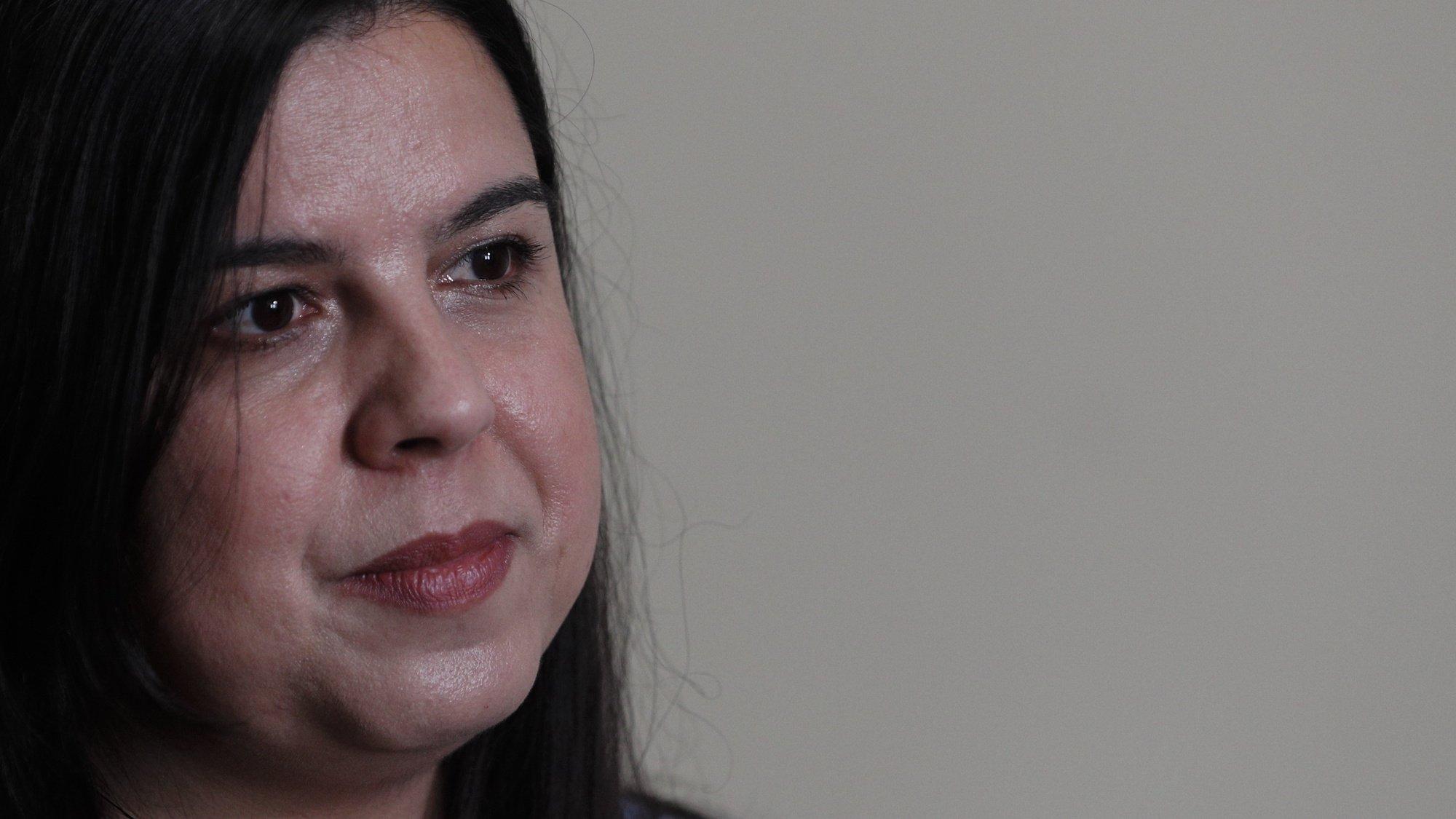 A deputada e porta-voz do partido Pessoas, Animais e Natureza( PAN), Inês Sousa Real, durante a entrevista à Agência Lusa, em Lisboa, 02 de julho de 2021. (ACOMPANHA TEXTO DO DIA 04 DE JULHO DE 2021) ANTÓNIO COTRIM/LUSA
