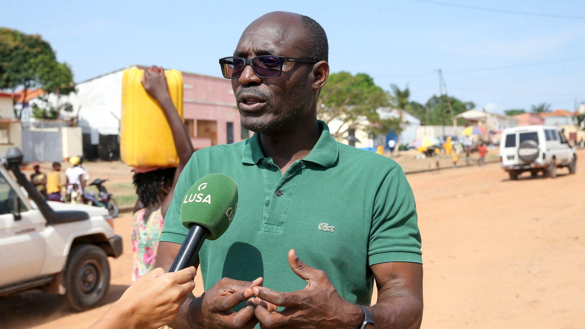 O ativista e investigador angolano Rafael Marques durante a entrevista à Agência Lusa, Cafunfo, Lunda Norte, Angola, 10 de março de 2021
