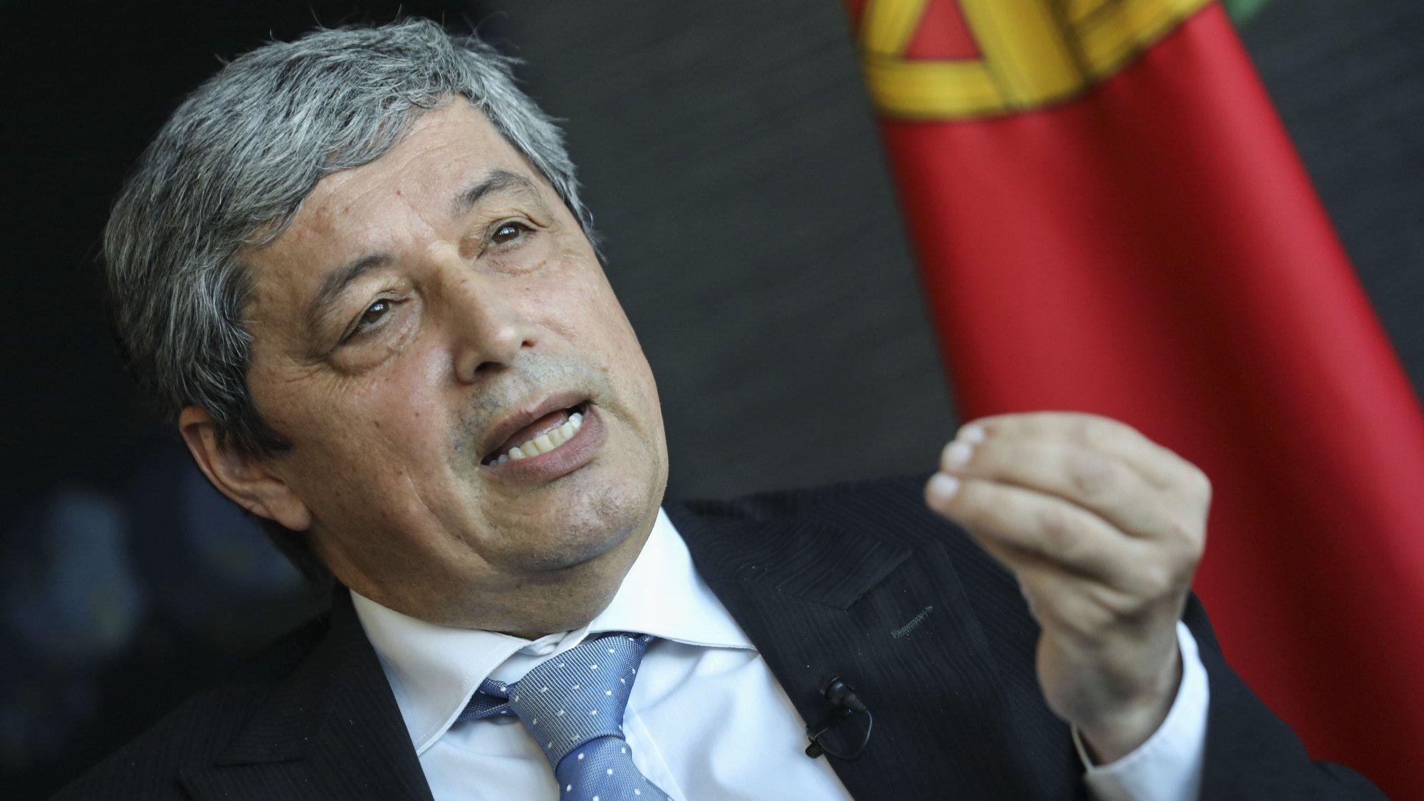O vice-presidente do Conselho Superior de Magistratura, José António Lameiras, durante uma entrevista à Agência Lusa, em Lisboa, 8 de junho de 2021. (ACOMPANHA TEXTO DE 13 DE JUNHO DE 2021). MIGUEL A. LOPES/LUSA