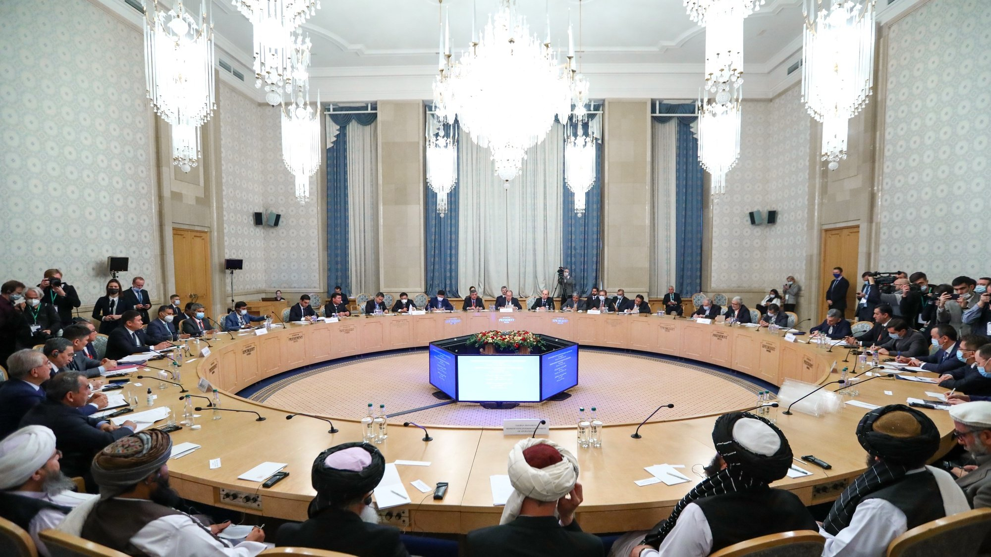Terceira sessão de conversações com Afeganistão, Moscovo, Rússia, 20 de outubro de 2021