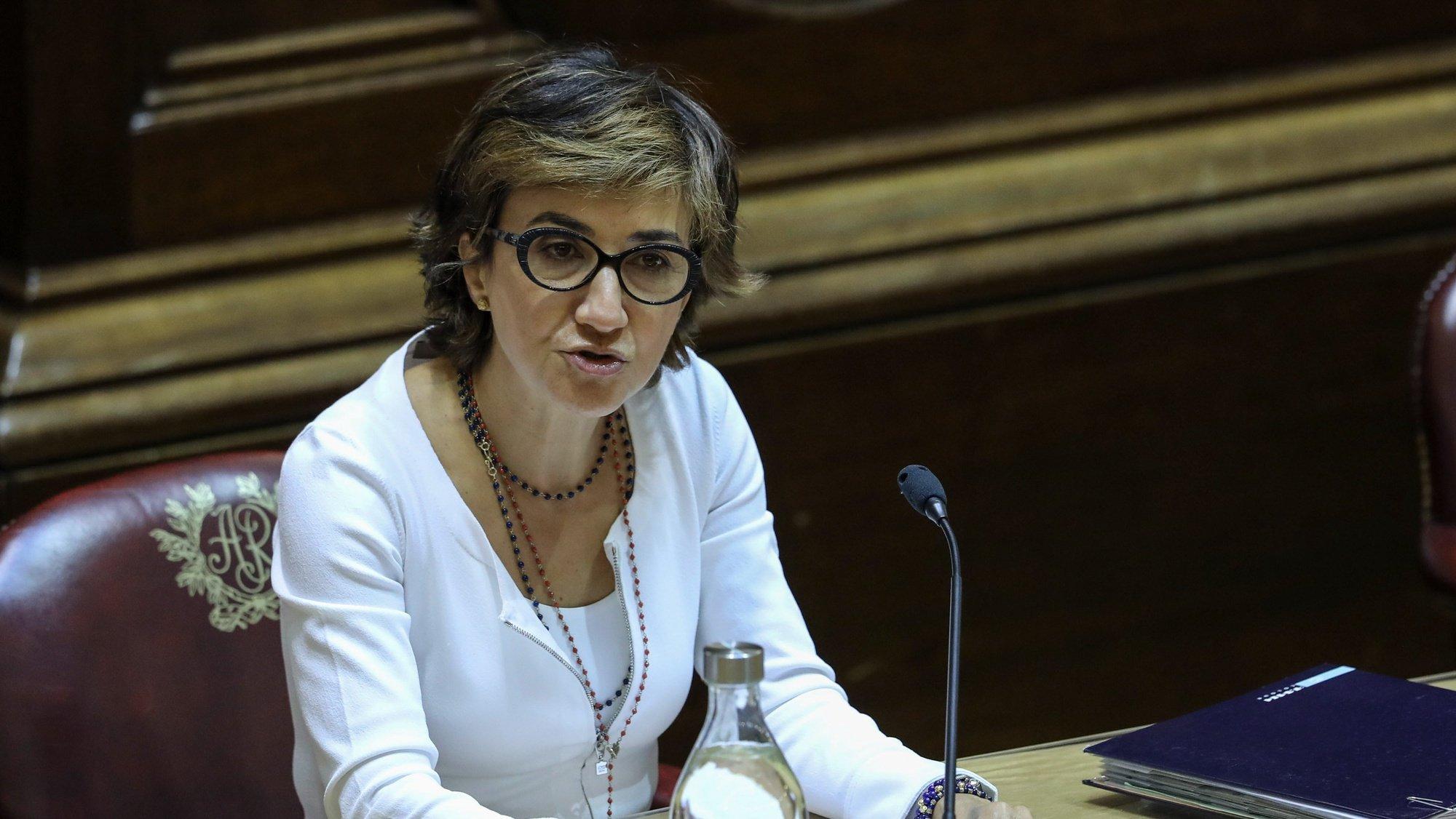 Ministra da Agricultura Maria do Céu Antunes ouvida na Comissão de Agricultura e Mar esta tarde na Assembleia da República em Lisboa, 7 de julho de 2021. MIGUEL A. LOPES/LUSA