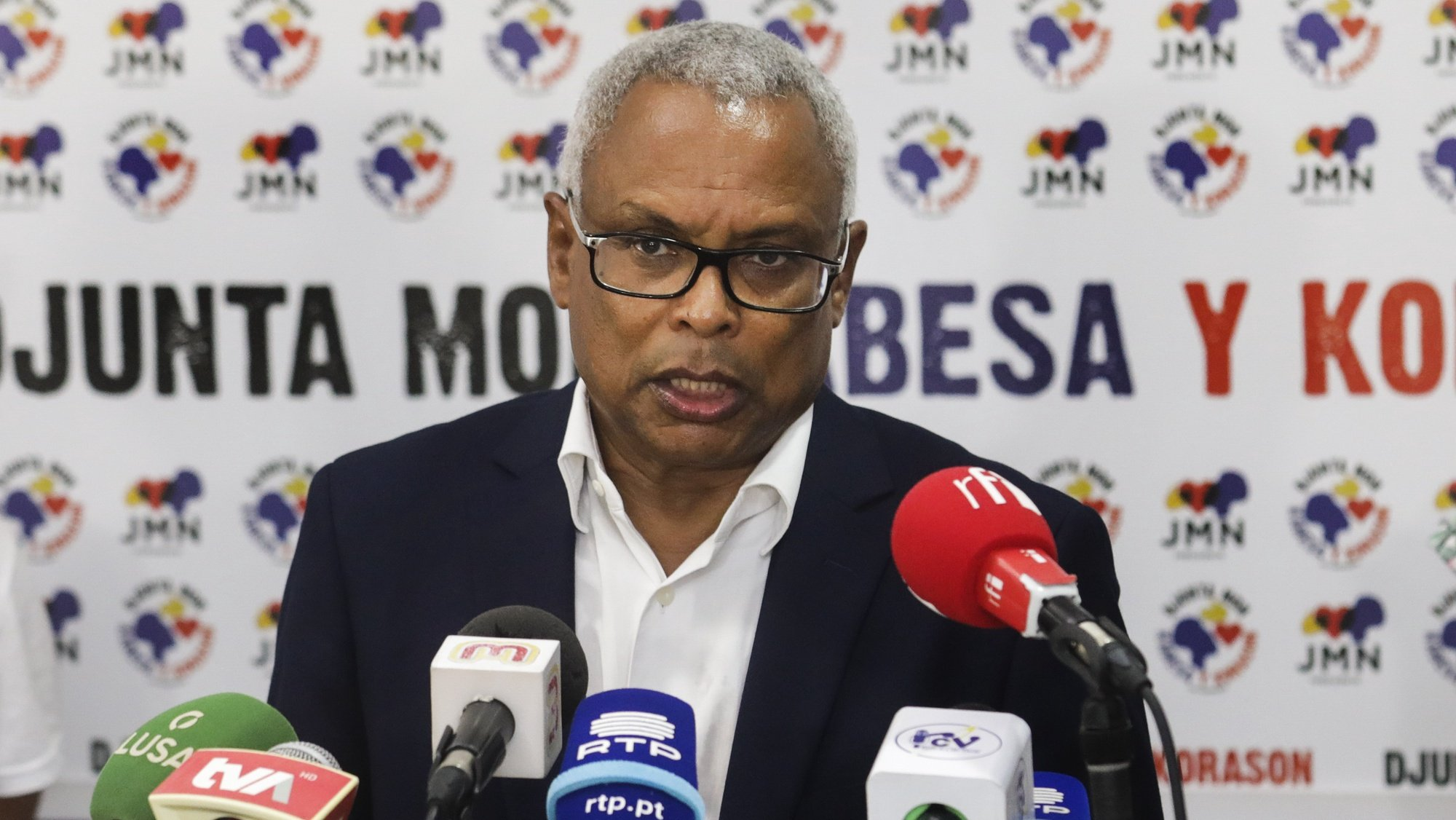 The candidate for President of the Republic of Cape Verde, José Maria Neves, addresses his victory speech in the 2021 presidential elections, in Praia, Santiago Island, Cape Verde, 17 October 2021 (issued on 18 October 2021). Former Cape Verde Prime Minister Jose Maria Neves was elected this Sunday, in the first round, the fifth President of the Republic of Cape Verde, with 51.5% of the votes, according to the provisional tabulation data. ELTON MONTEIRO/LUSA