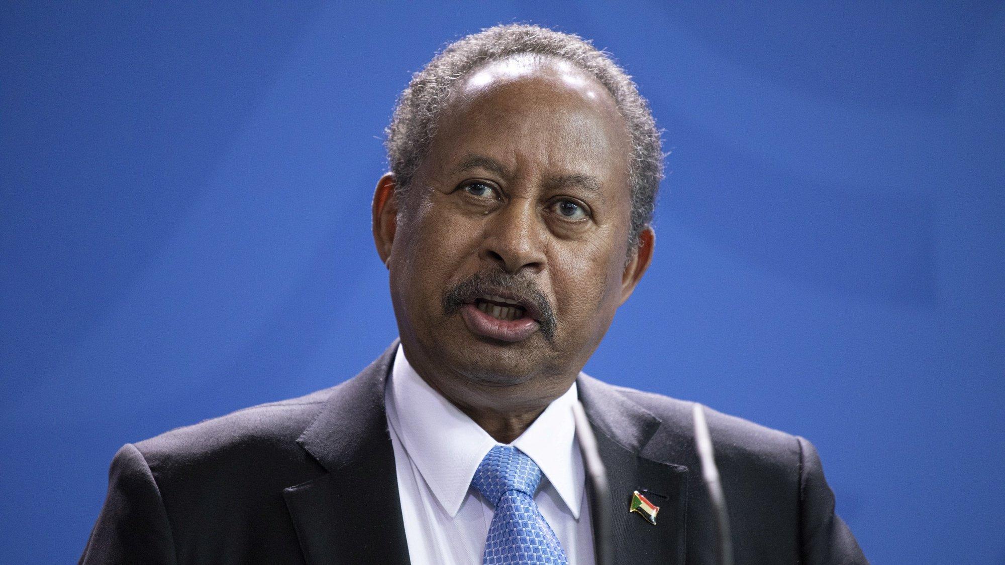Primeiro-ministro do Sudão Abdalla Hamdok